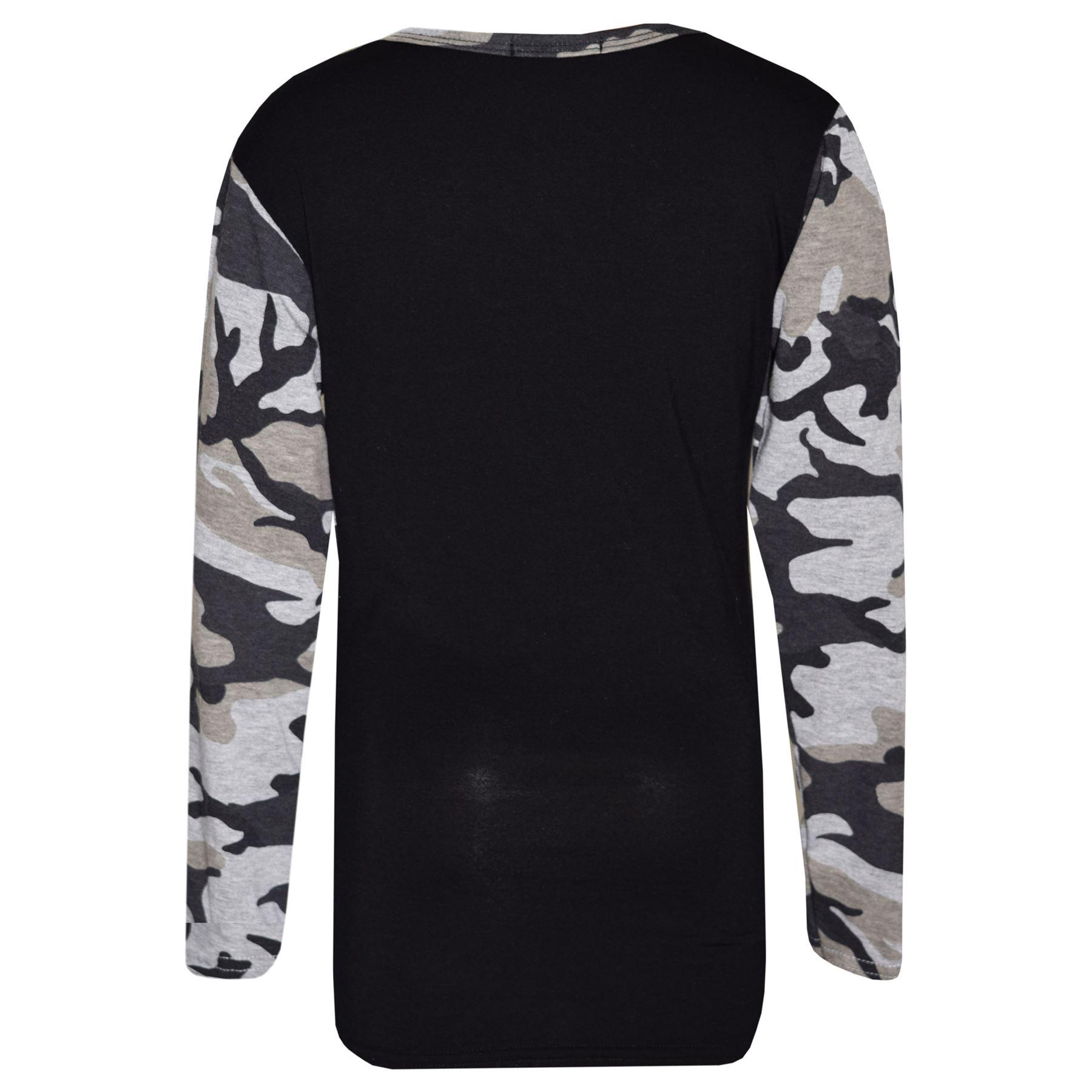 b802b2af0057 Girls Tops Kids Girl Boss Camouflage Print T Shirt Top   Legging Set ...
