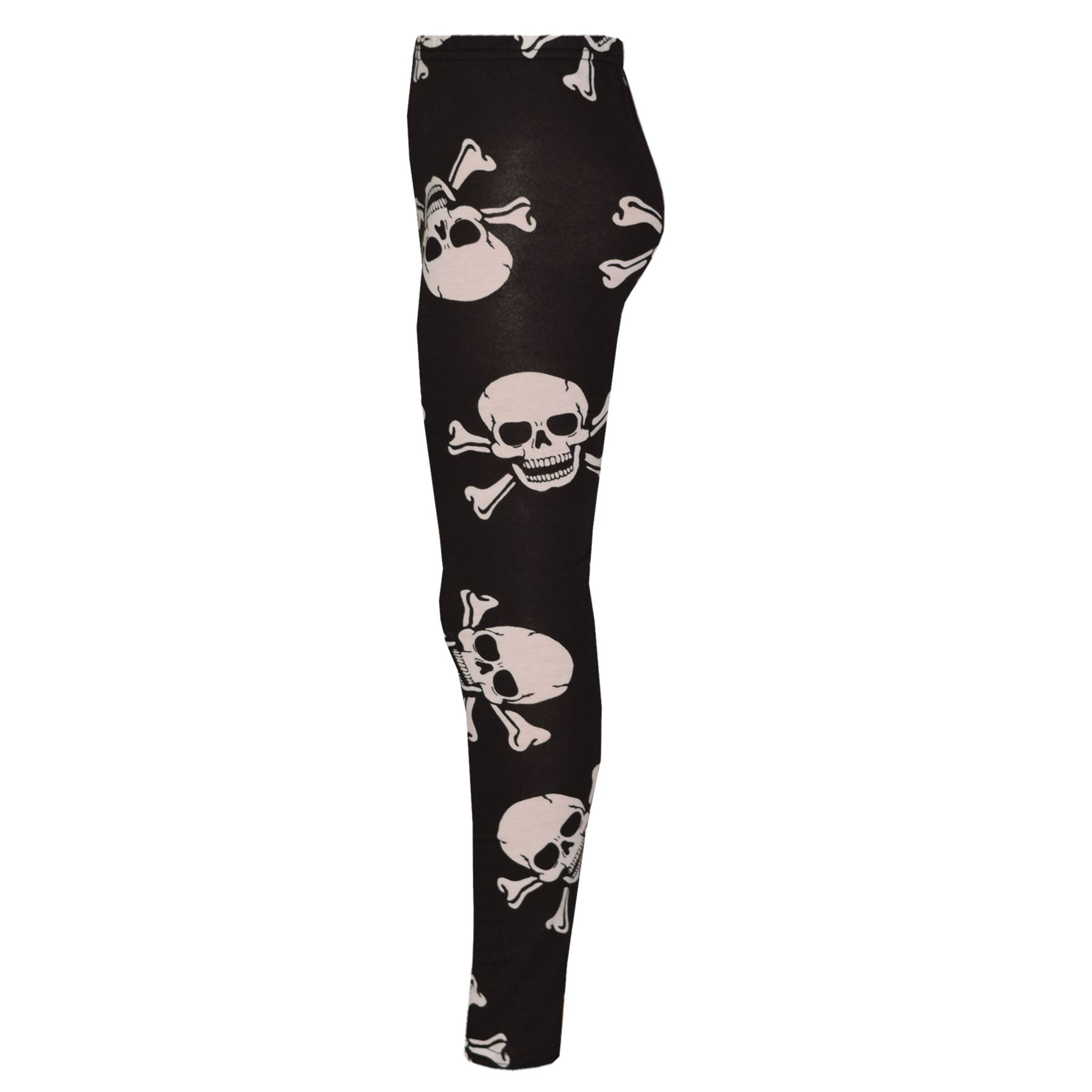e1849dfa8cb9 Kids Girls Boys Halloween Skull Print Crop Top Legging Skater Dress ...