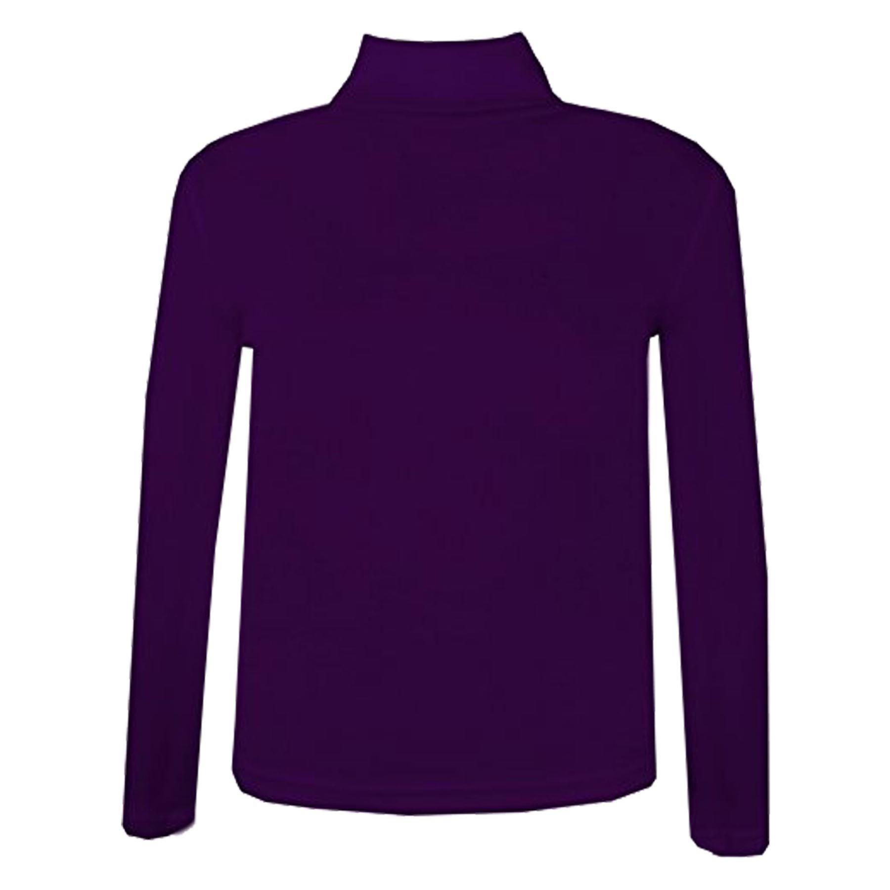 Enfants-Filles-Col-Polo-T-Shirt-en-Coton-Cotele-Pull-Haut-a-manches-longues-Age-2-13-ans