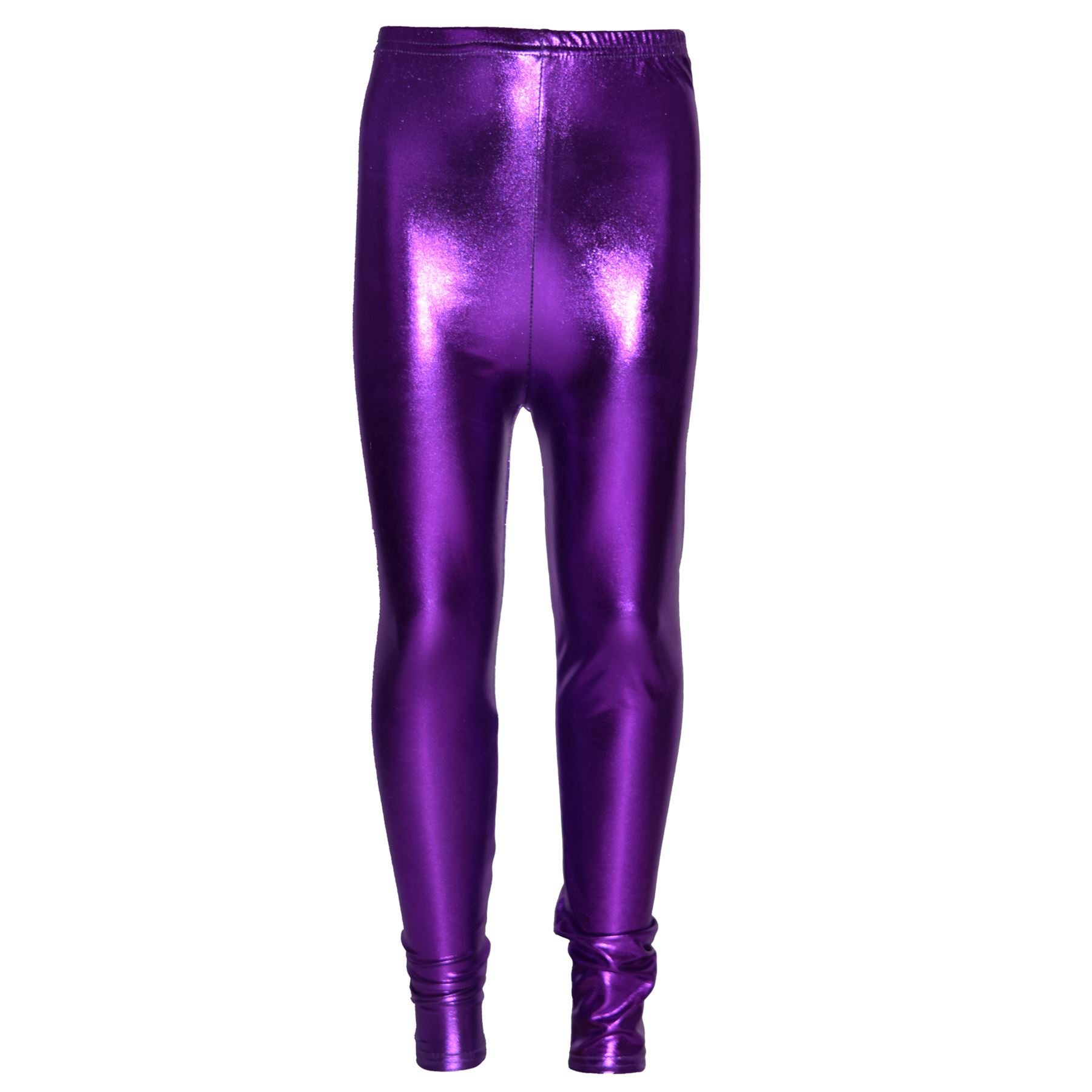 kinder leggings m dchen metallic gl nzend disco mode tanz alter 4 13 jahre. Black Bedroom Furniture Sets. Home Design Ideas