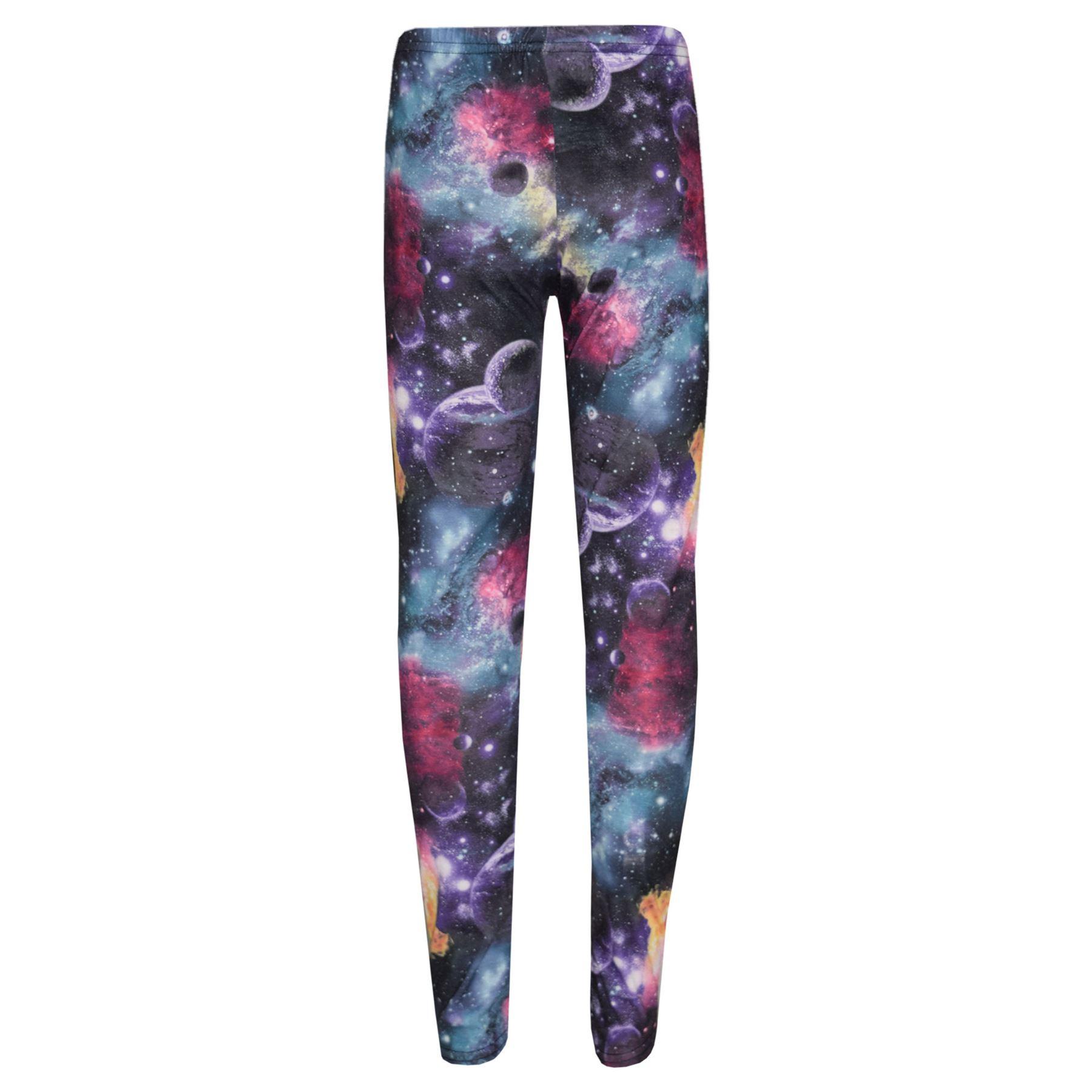 5151649f19a4 Girls Legging Kids Cosmic Print Party Dance Fashion Leggings Pants ...