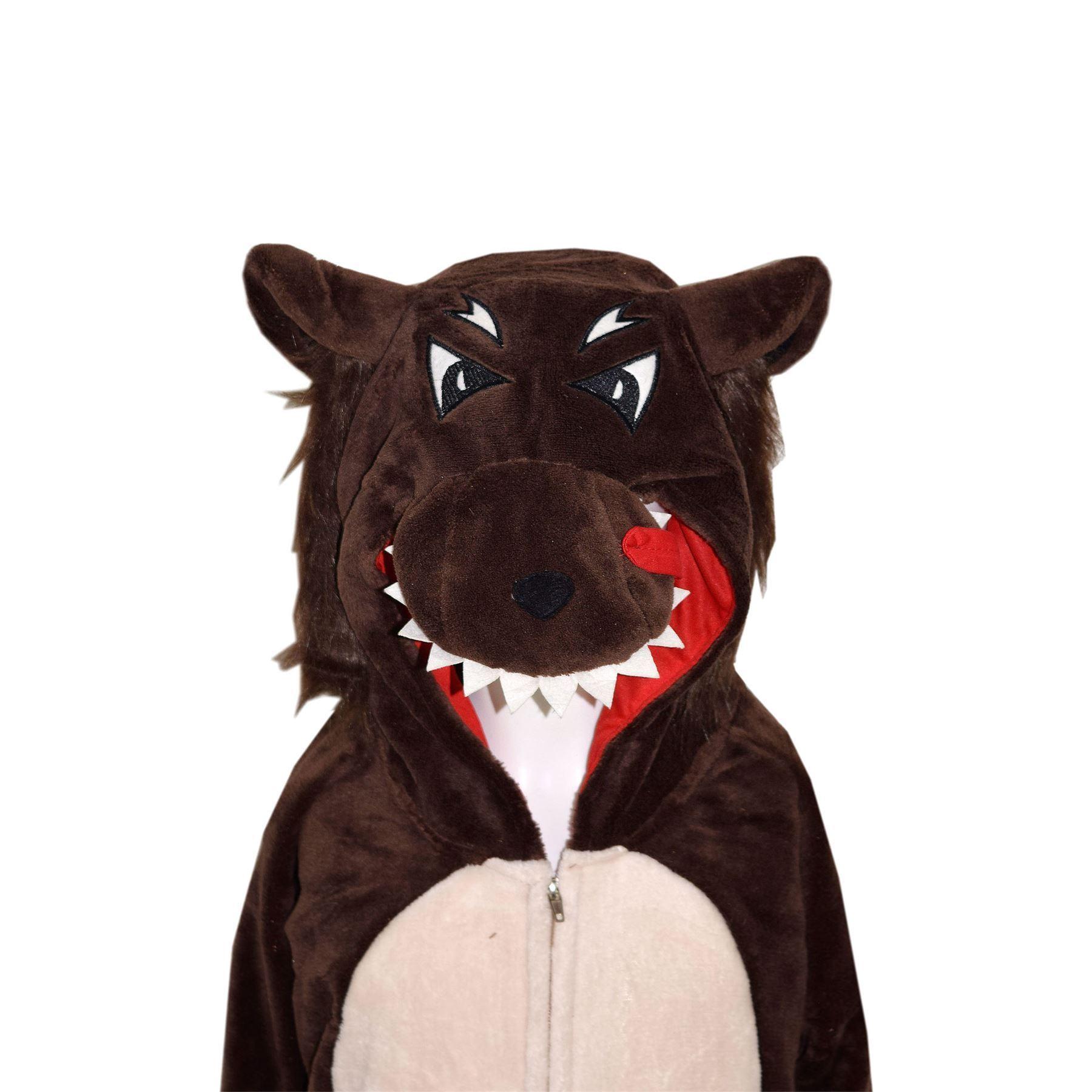 Ninos-Ninas-Ninos-Animales-Mono-Suave-Esponjoso-A2Z-Onesie-De-Una-Pieza-Disfraz-De-Halloween