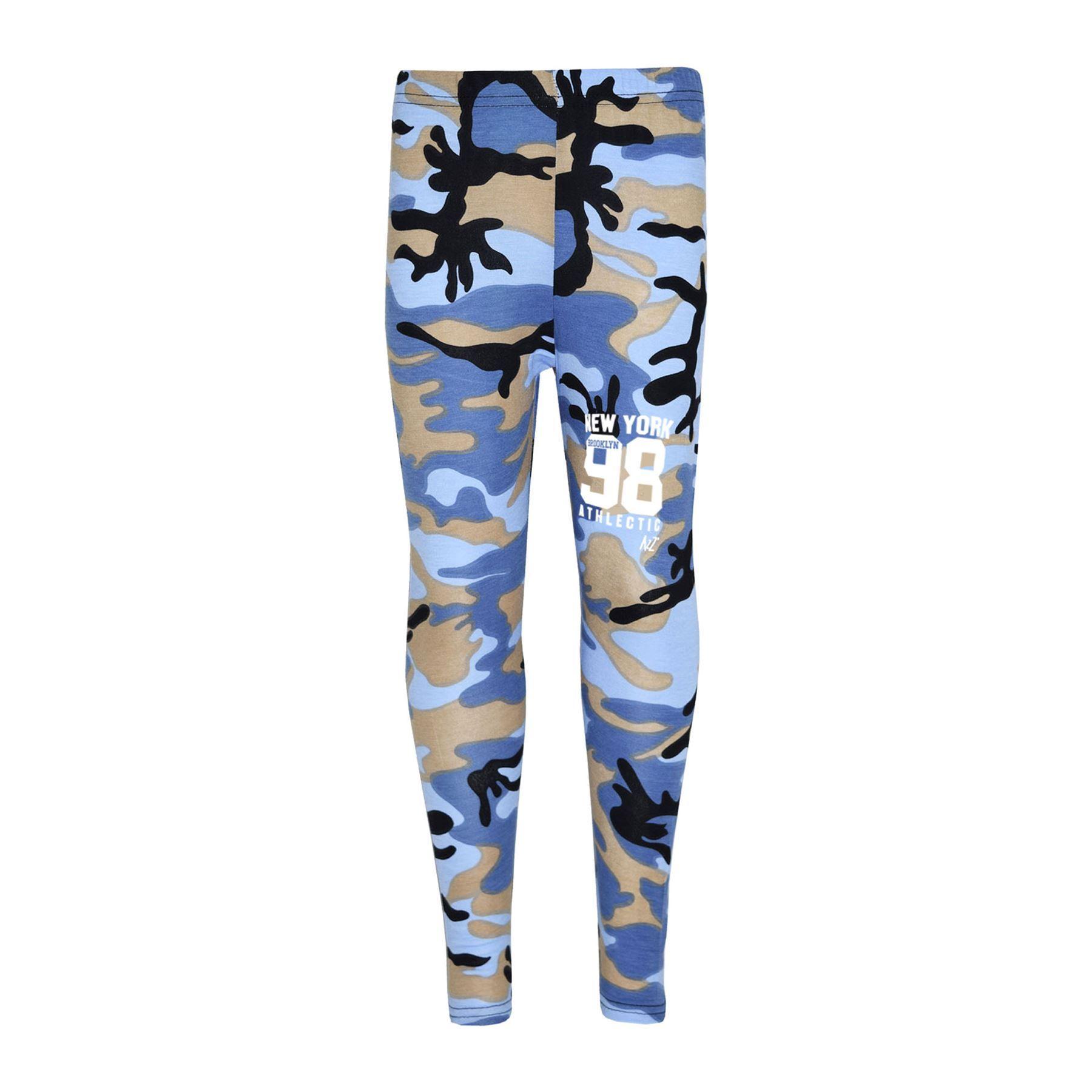 Girls-NEW-YORK-BROOKLYN-98-ATHLECTIC-Camouflage-Print-Top-amp-Legging-Set-7-13-Yr thumbnail 15