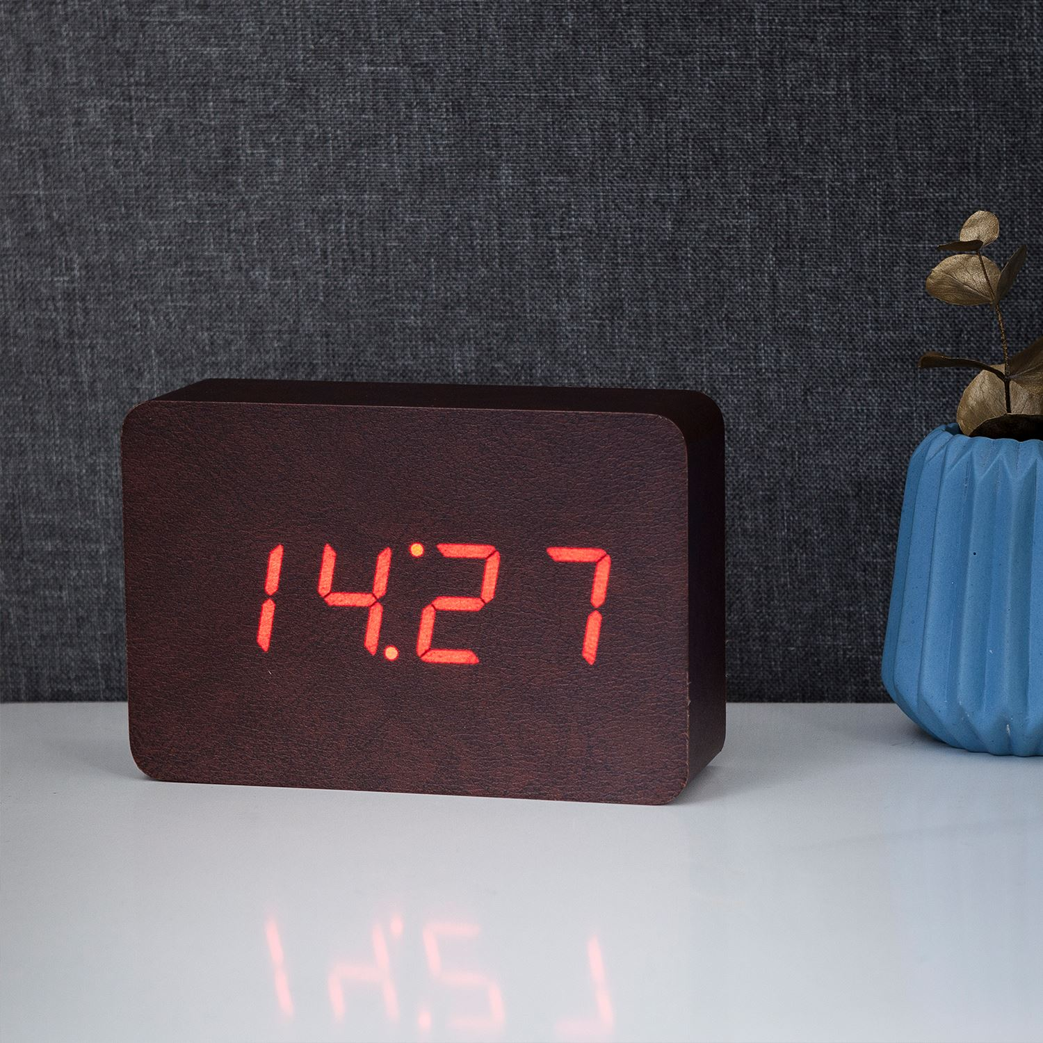 Brick Click Alarm Sound Clock Details Rechargeable Led With Activation About Gingko rQdtCsh