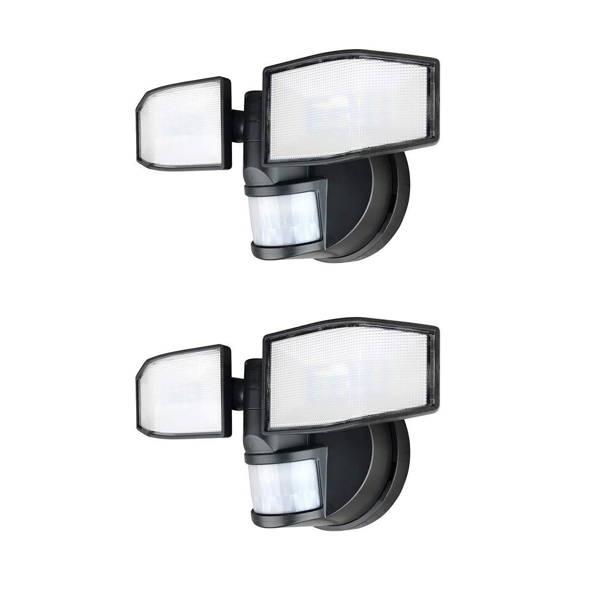 buy popular 600aa 55f8a Details about 2 Pack Xtralite NiteSafe X2 Twin LED Floodlight Wireless  Motion Sensor Light