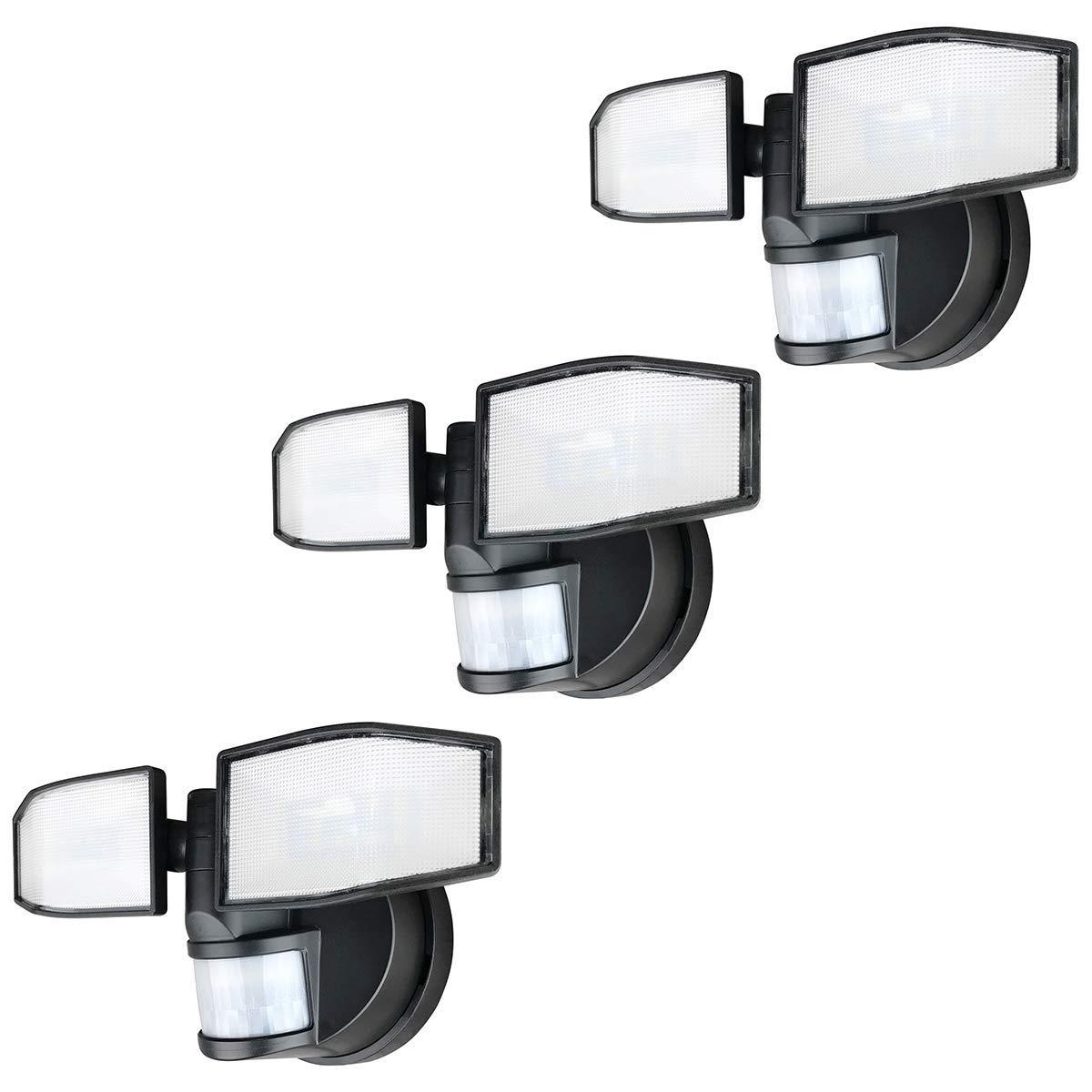 Lot de 3 Xtralite NiteSafe X2 Twin DEL Projecteur Sans Fil Capteur Mouvement Lumière