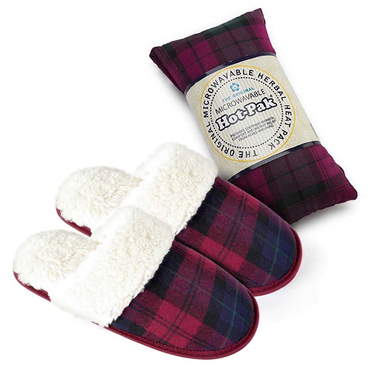 Warmies Wheat Lavender Scented Lilac Spa Therapy Microwavable Slipper Boots