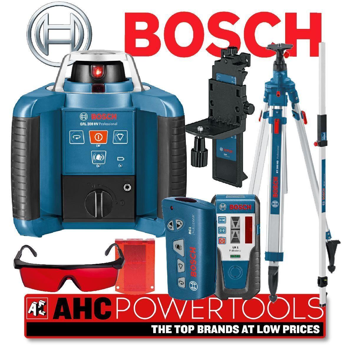 bosch grl 300 hv pro site rotary laser level kit grl300 ebay. Black Bedroom Furniture Sets. Home Design Ideas