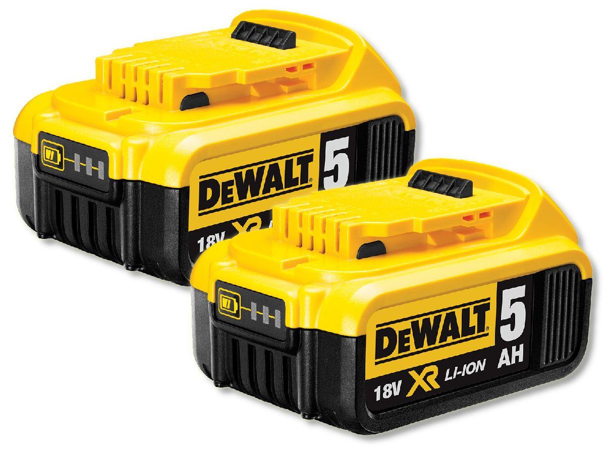 2 X Dewalt Dcb184 18v Xr Li Ion Battery 5ah Ebay