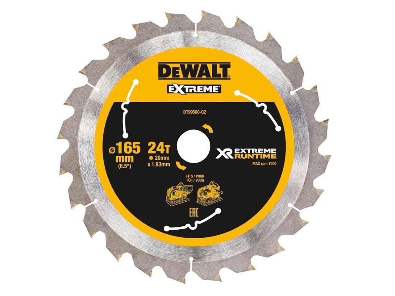 Dewalt DT99567QZ 210mm x 30mm 60T FlexVolt Xtreme Runtime Saw Blade