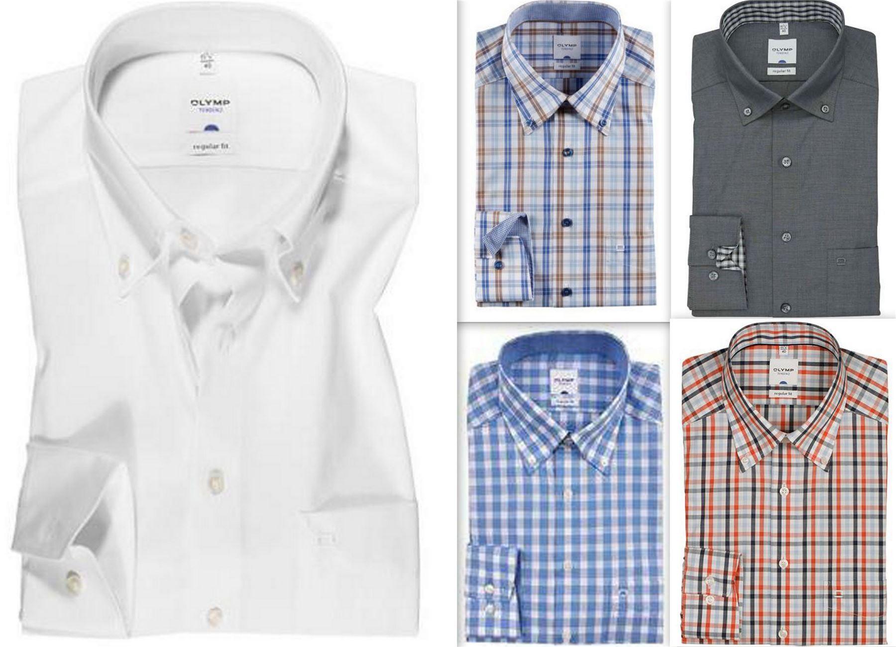Mens Shirt Olymp Tendenz Modern Regular Fit Textured Pure Cotton Long Sleeve