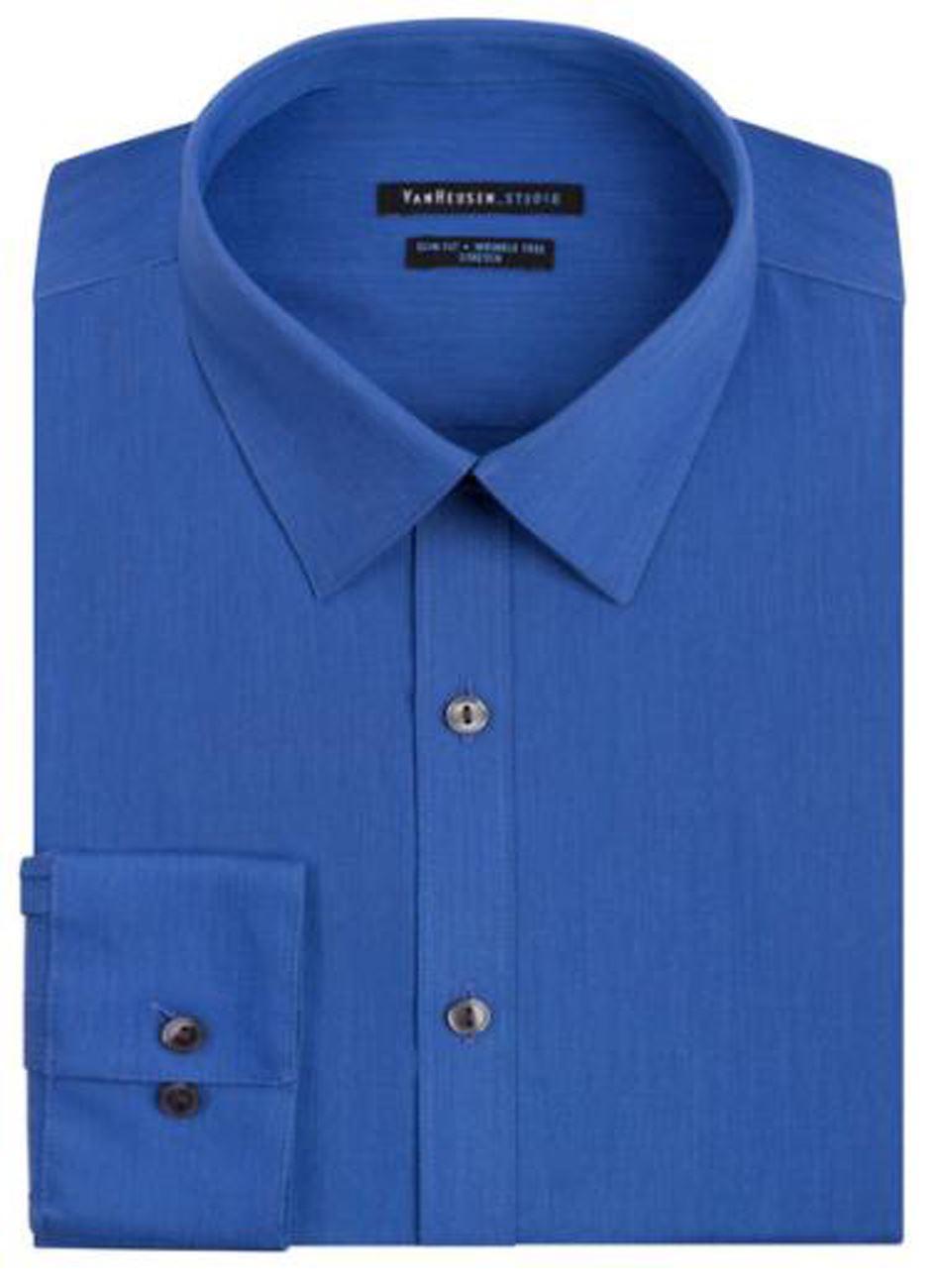 Mens-Shirt-Van-Heusen-Slim-Fit-Cotton-Blend-