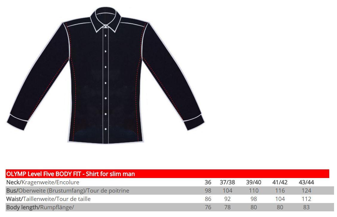 mens shirt olymp level 5 body fit slim fitted easycare. Black Bedroom Furniture Sets. Home Design Ideas