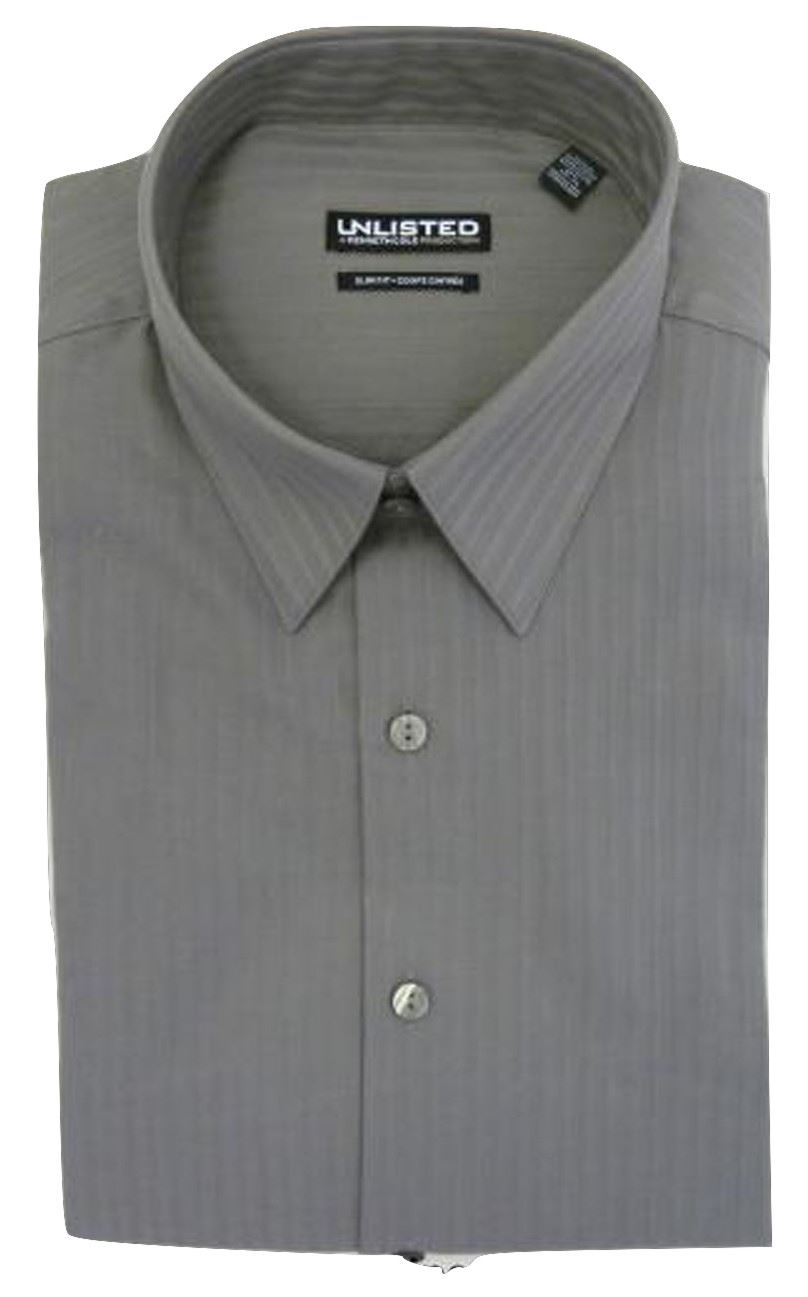 Long-Sleeve Slim-Fit Dress Shirt Kenneth Cole