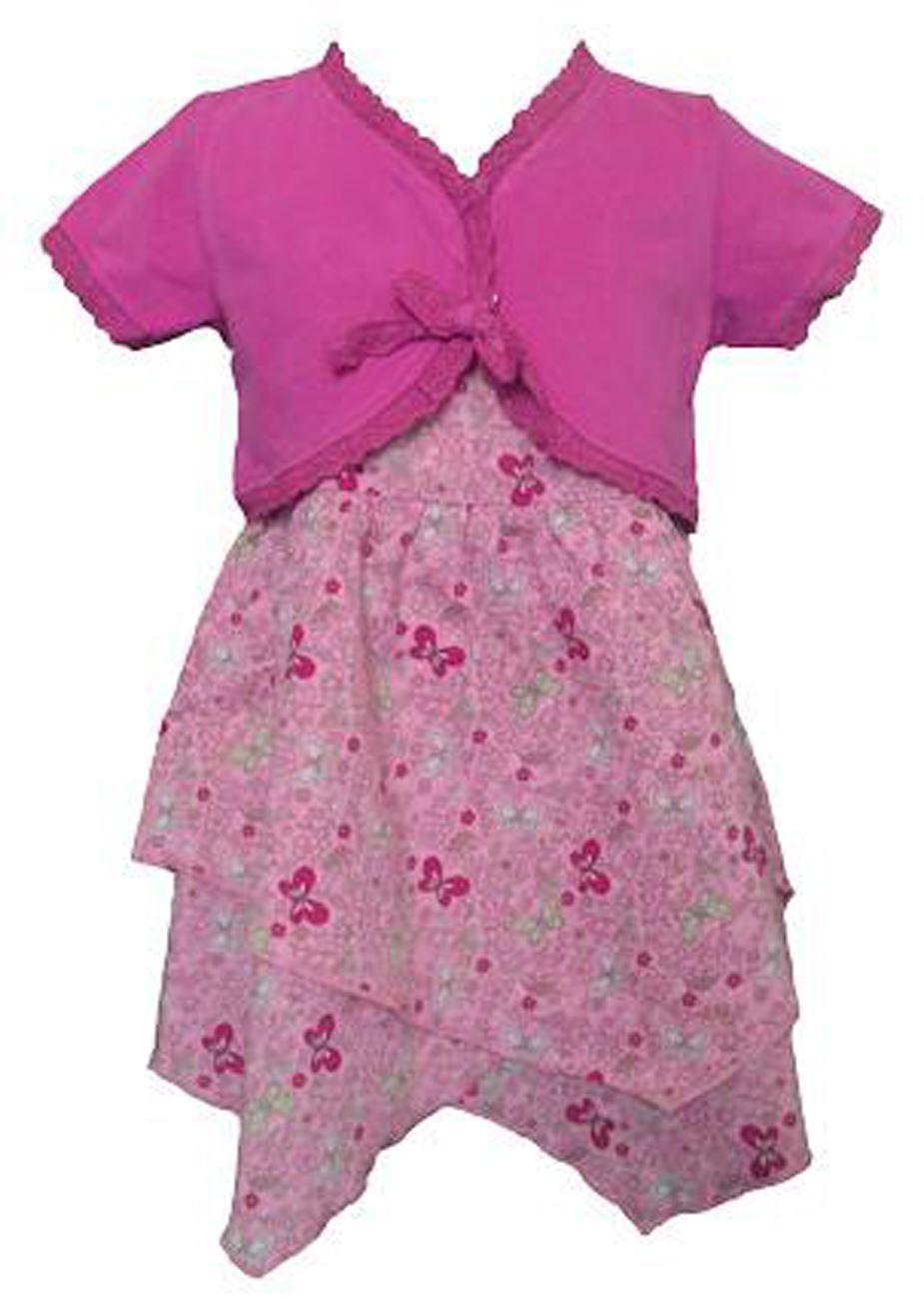 niña vestido de algodón & Chaqueta Bolero Set conjunto | eBay