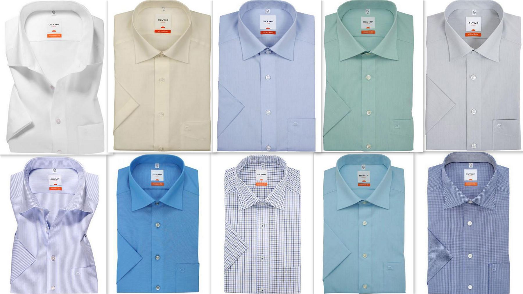 Mens Dress Shirt Olymp Luxor Modern Tailored Fit Non Iron Cotton