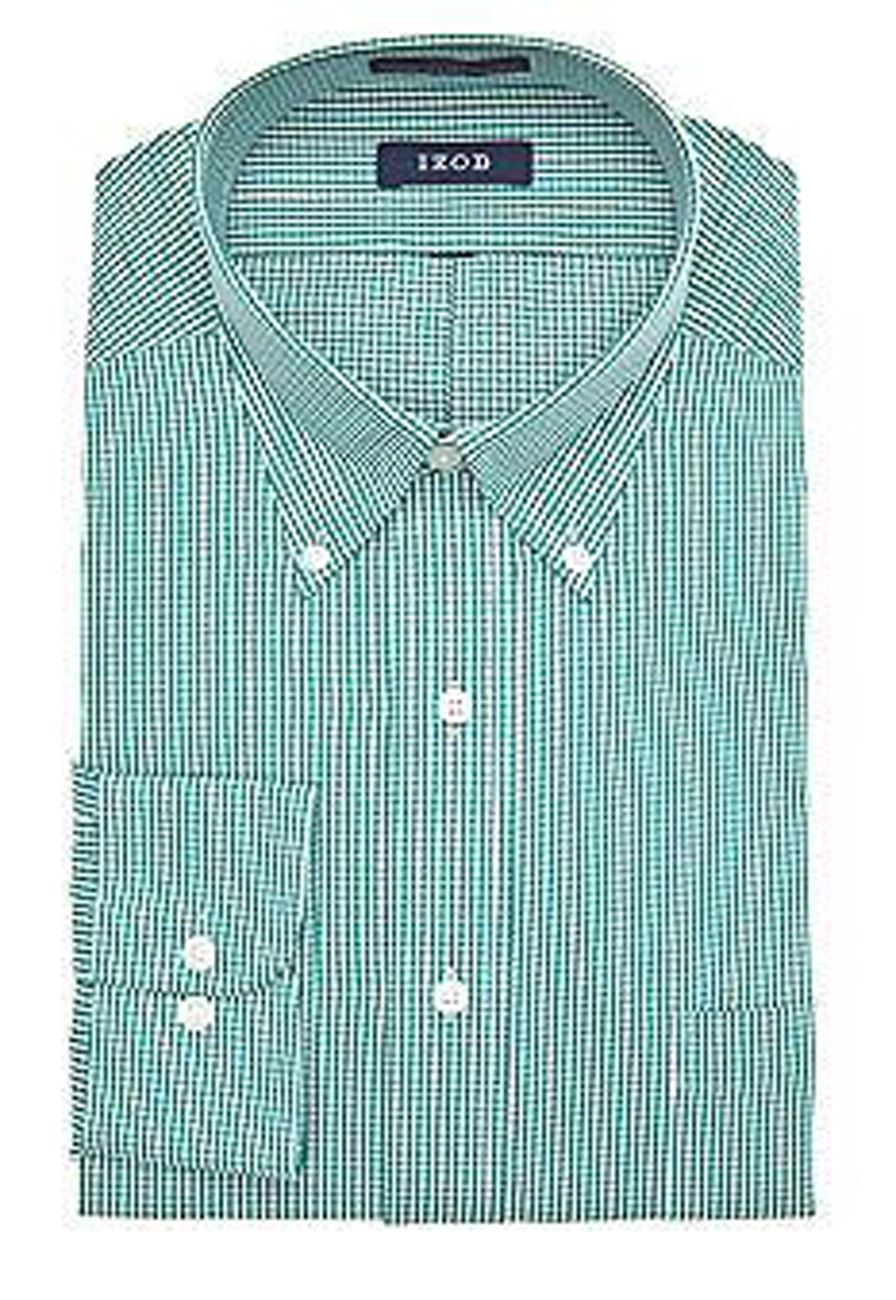 Easy Iron 25 Mg: Mens Shirt IZOD Regular Fit Cotton Blend Easy Iron Long