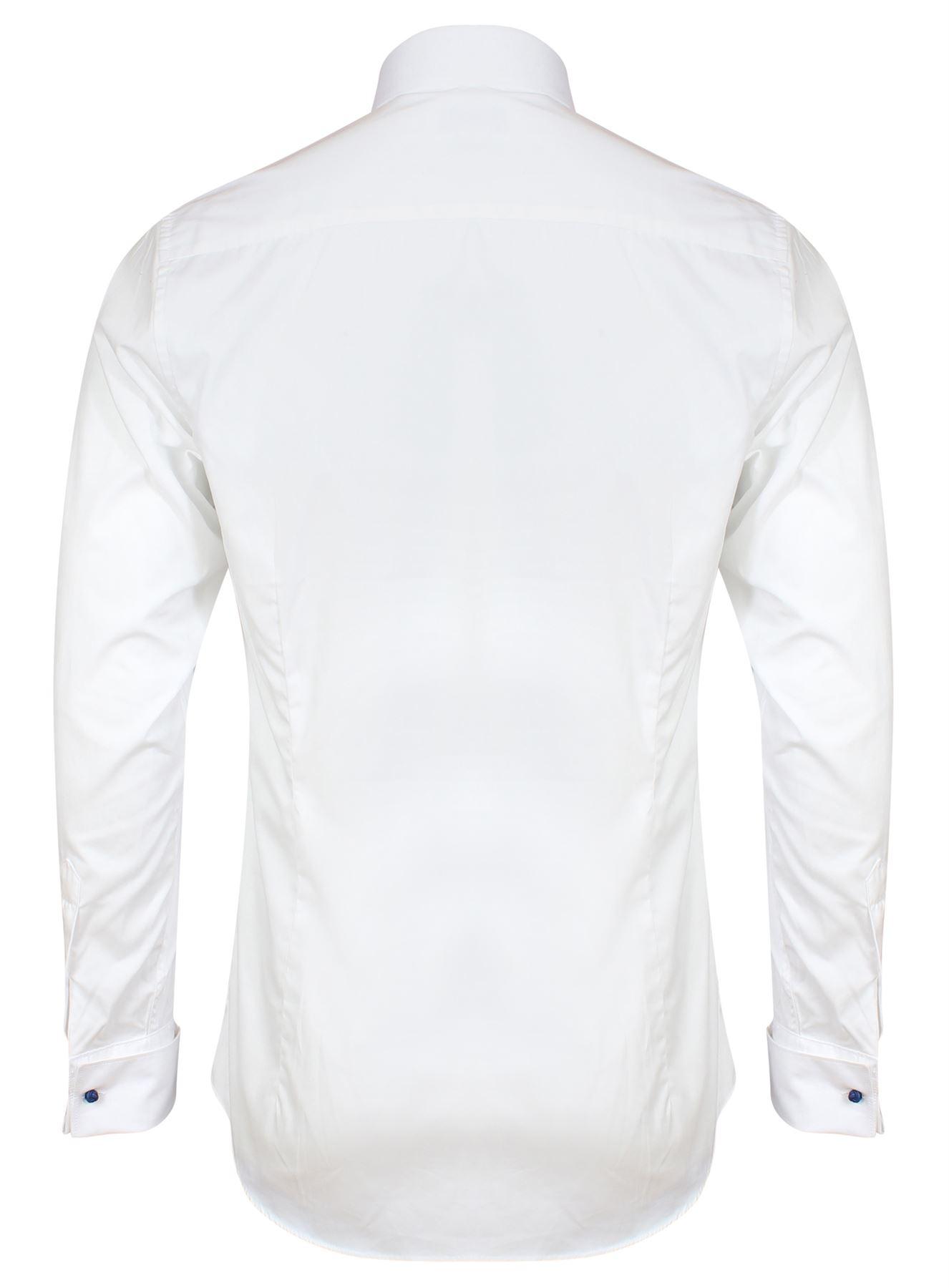 Camicia-Da-Uomo-Invictus-Slim-Su-Misura-Atletico-Body-Fit-Facile-Da-Lavare