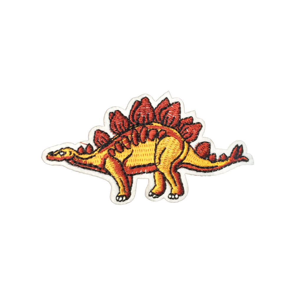 Iron On Patch Sew On Badge Embroidered Triceratops Dinosaur for Shirt Bag Jean