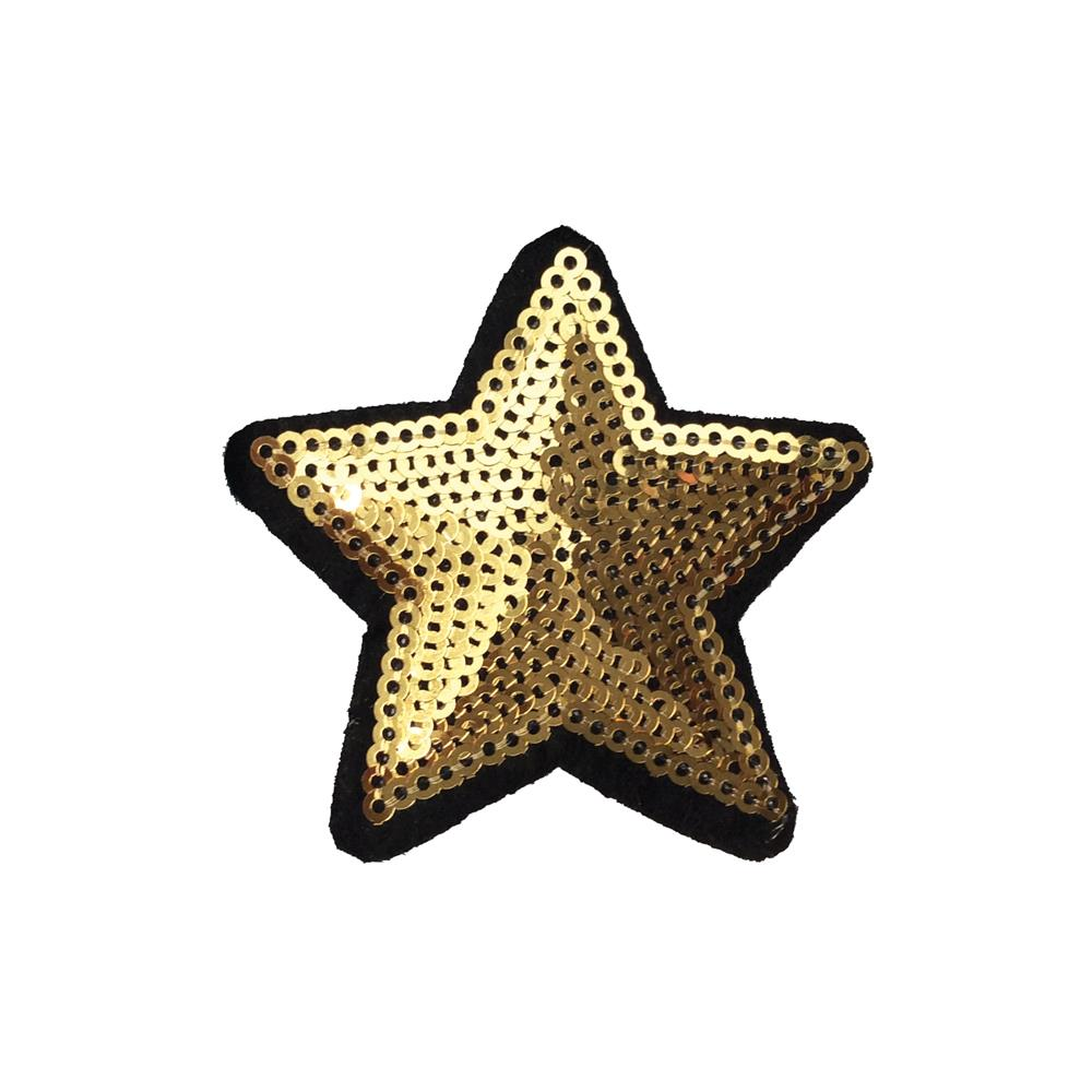Golden Star Embroidery Applique Patch Sew Iron Badge Iron On