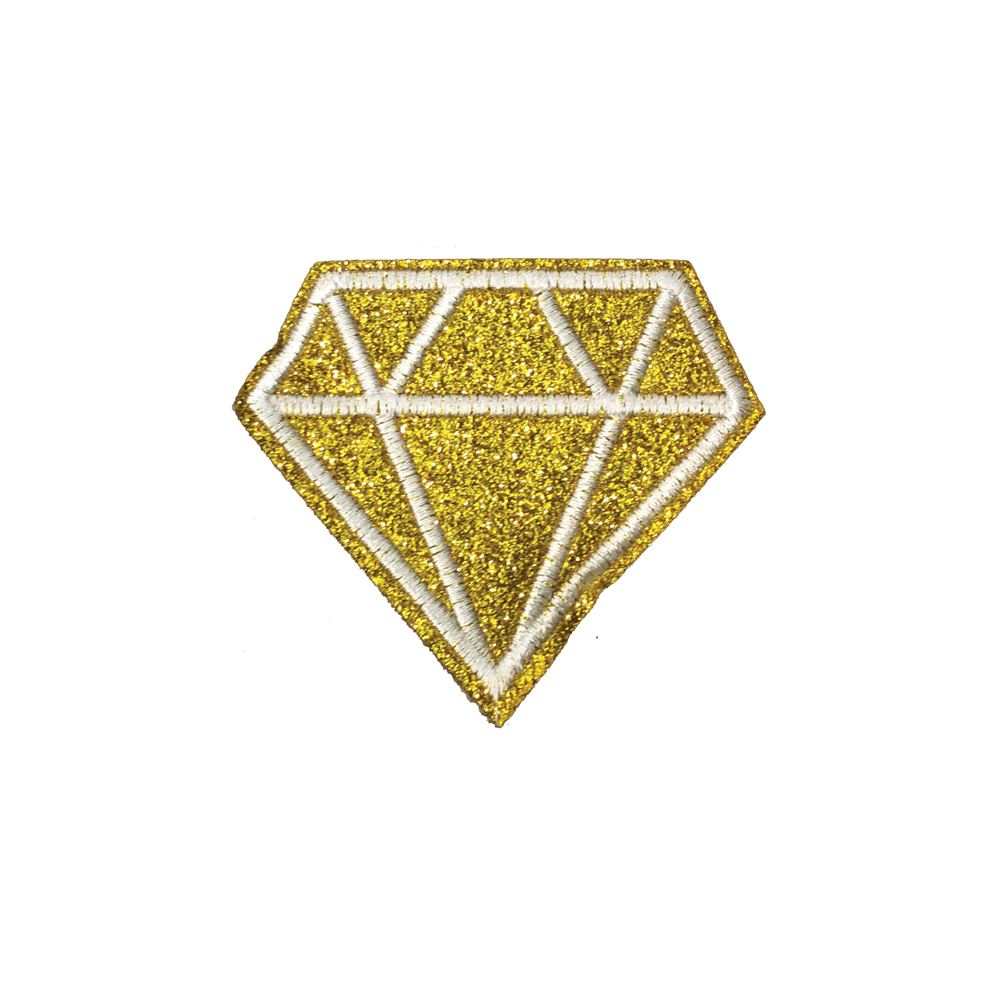 Iron On Sequin Blue Diamond Embroidery Applique Patch Sew Iron Badge