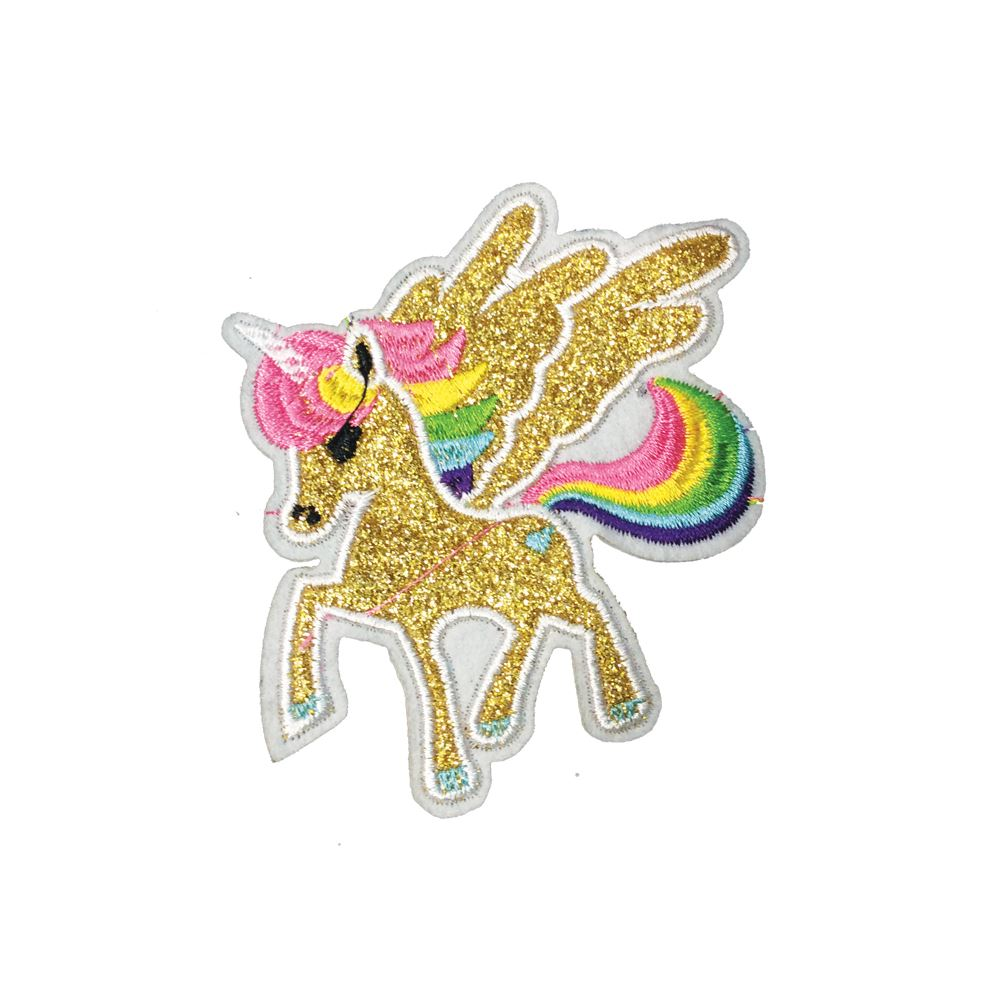 Sew On Embroidered Patch Appliqués Badge Unicorn Iron