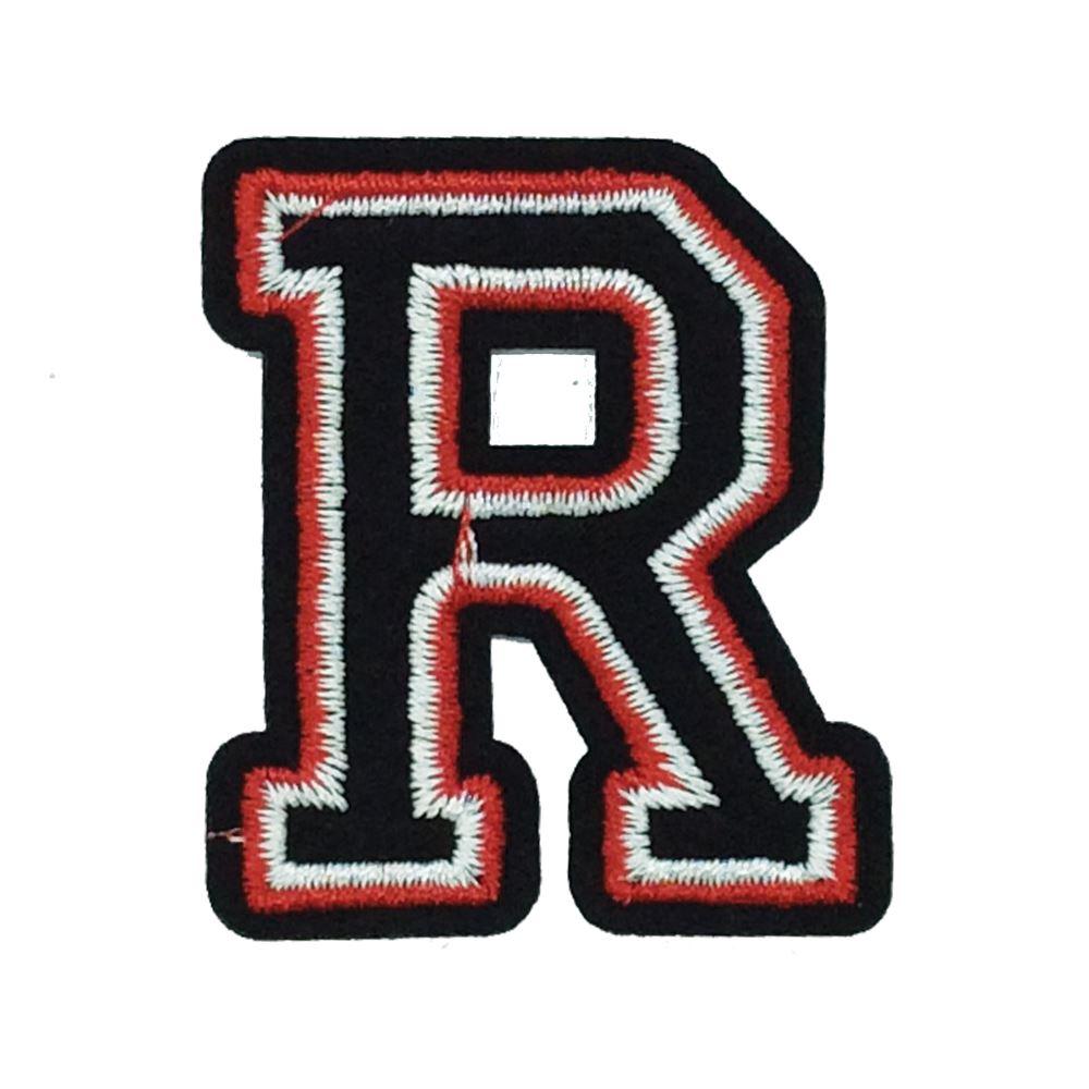 Letter K black Embroidered PATCH//BADGE