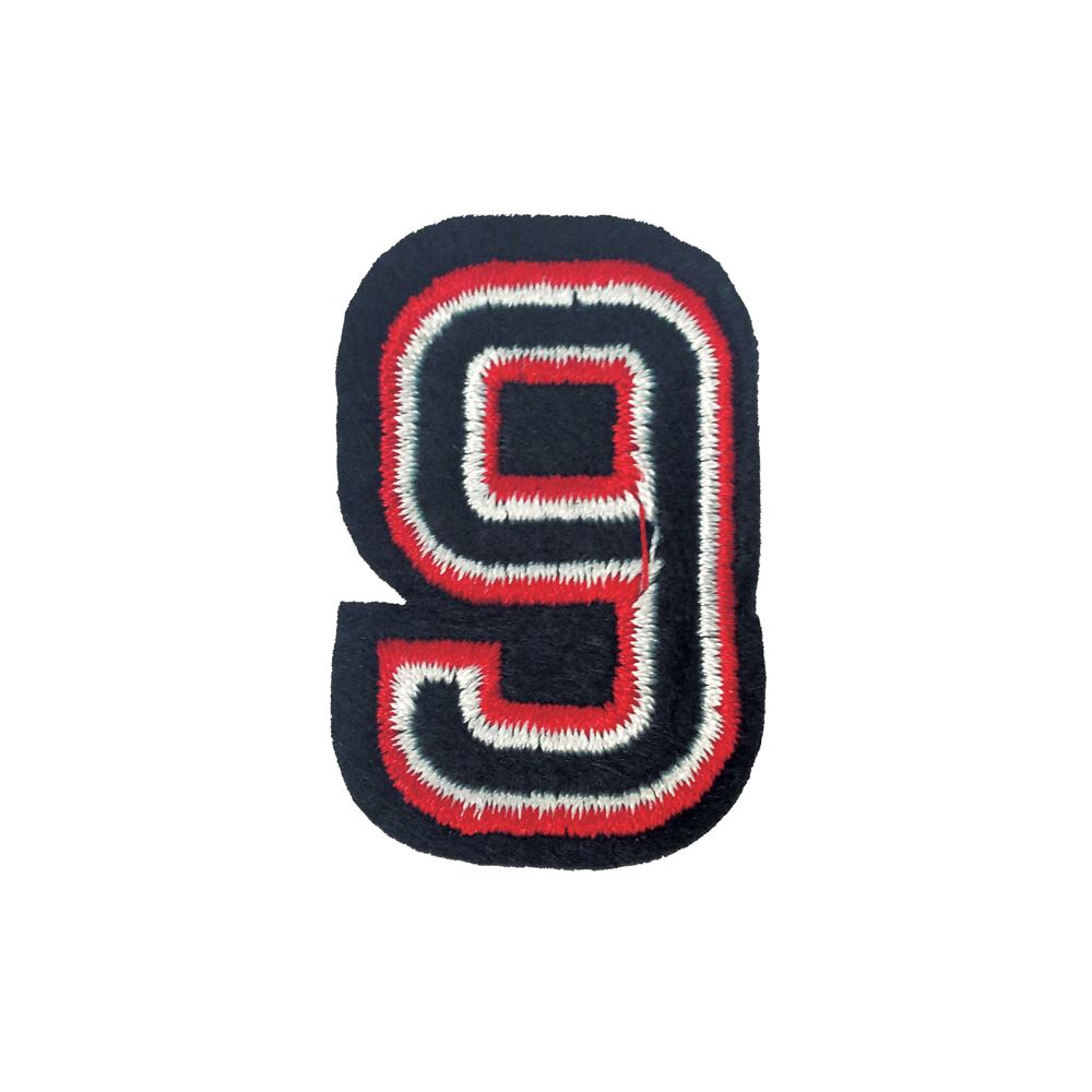Black And Red Number One Embroidery Applique Patch Sew Iron Badge Iron On
