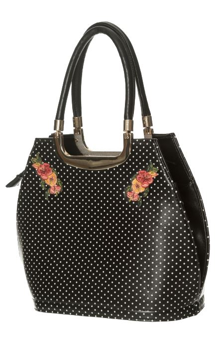 Dot Fire Ropa Handbag Retro Ring Of Hay espec Black prohibida nude Vintage Polka no xF0w0tqrT