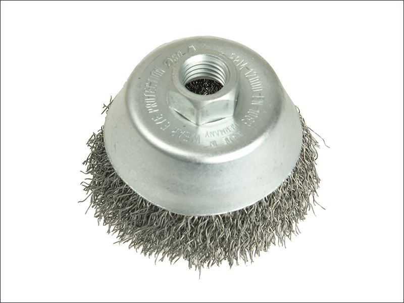 Lessmann - Cup Brush 80mm M14 x 0.30 Stainless Steel Wire