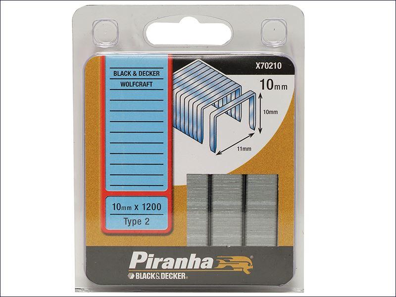 Black & Decker - X70210 Flat Wire Staples 10mm Pack 1200 | eBay