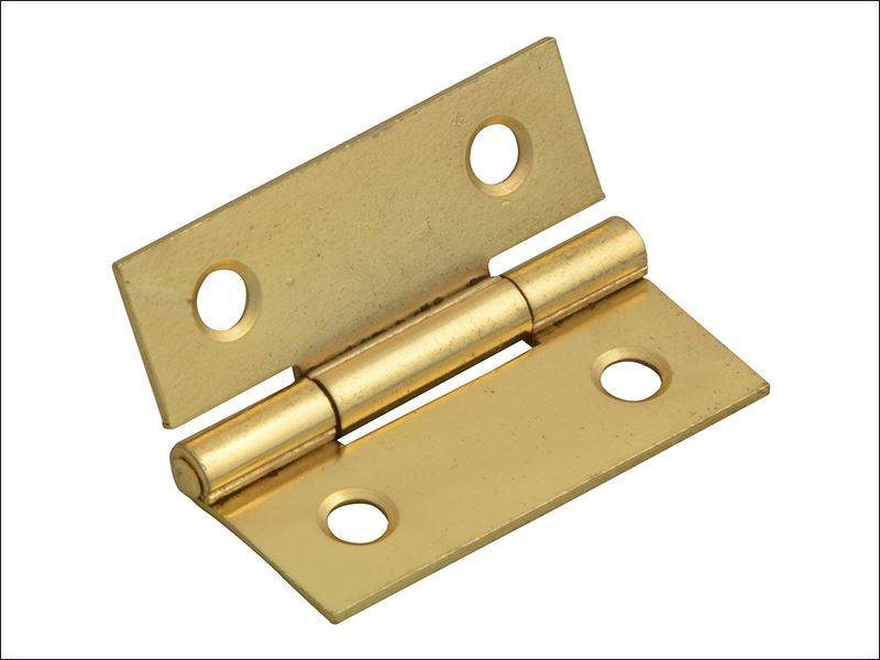 Forge - Butt Hinge Brass Finish 40mm (1.5in) Pack of 2