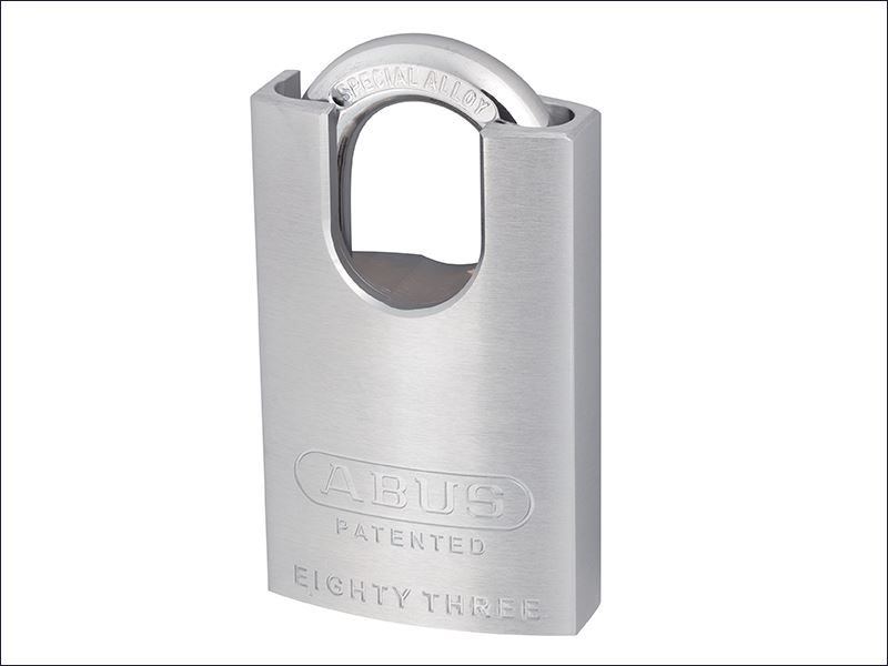 ABUS Mechanical - 50mm Chrome Plated Brass Padlock Hardened Close Shackle KA2745