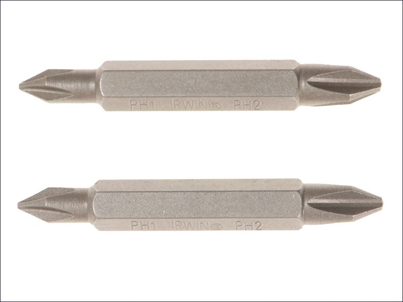 PH2 Double Ended 50mm Pack of 2 IRW10504394 IRWIN Screwdriver Bits PH2