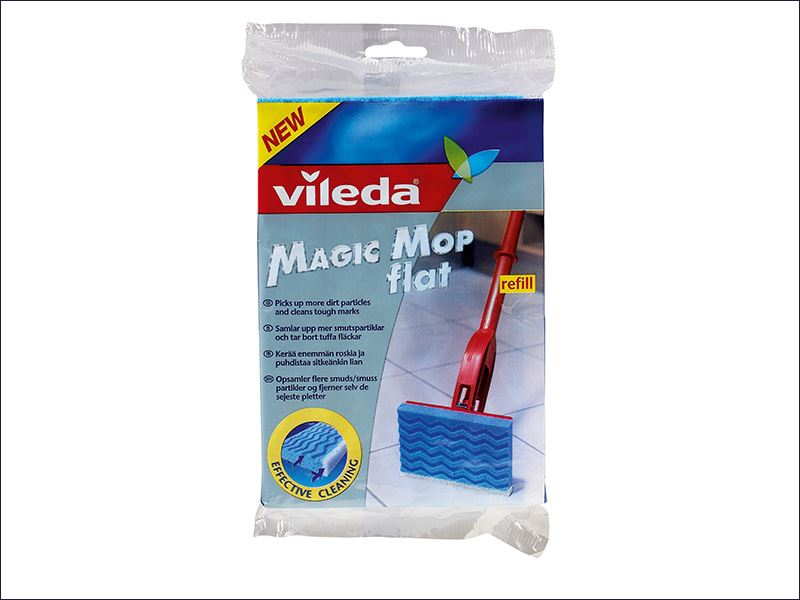 vileda magic mop flat head refill ebay. Black Bedroom Furniture Sets. Home Design Ideas