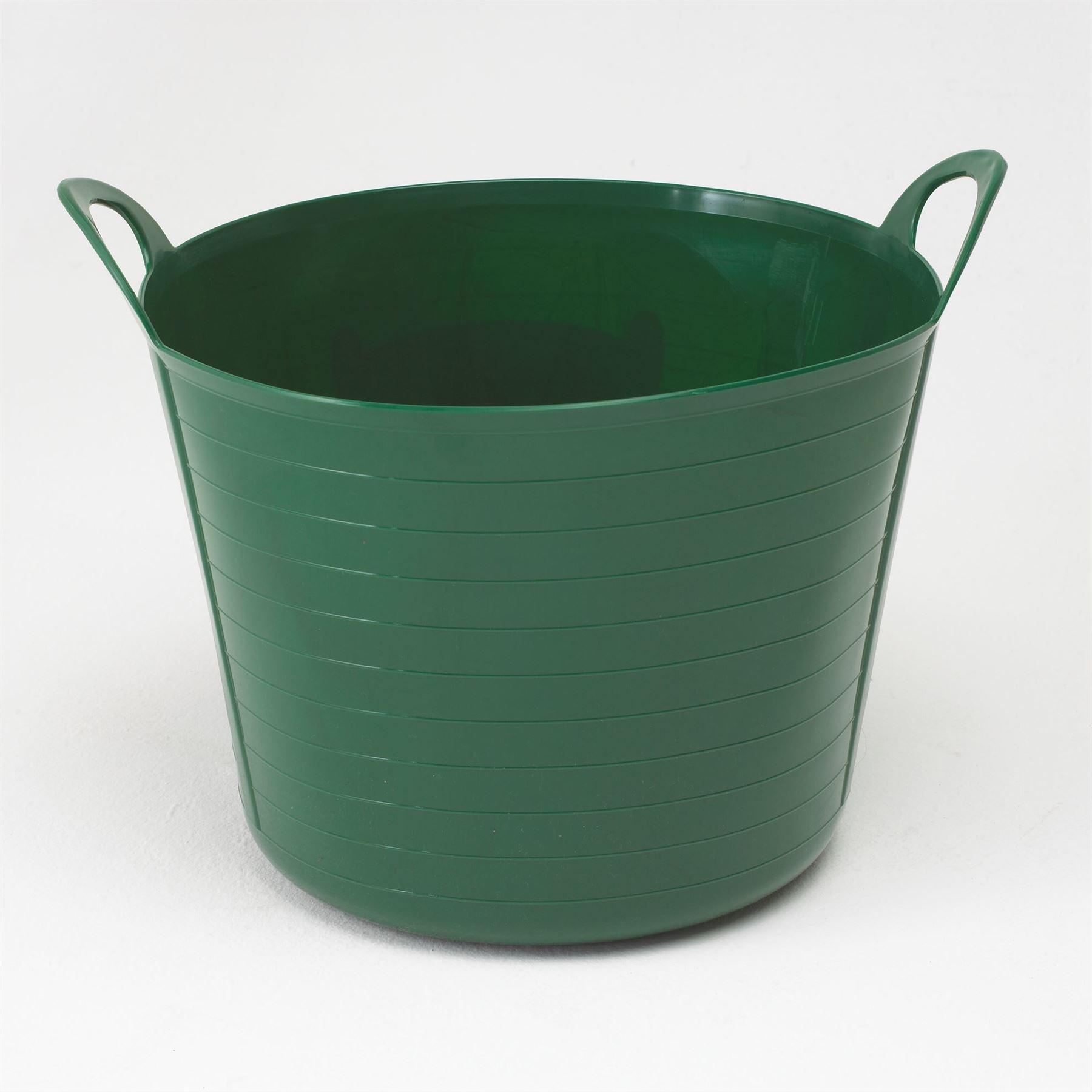 26L Green Flexible Multi Purpose Bendy Tubbie Rubber Tub Garden ...