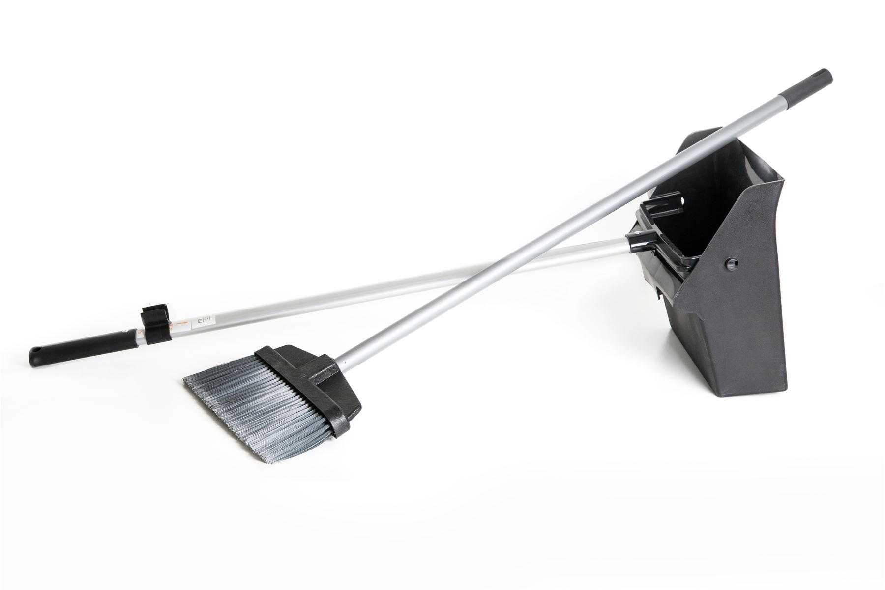 Industrial Deluxe Long Handled Lobby Dustpan And Brush