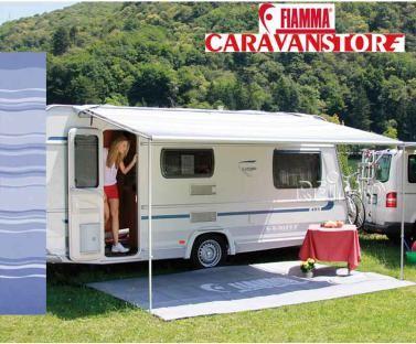 Image Is Loading Fiamma Caravanstore 225 Royal Blue Caravan Awning Canopy