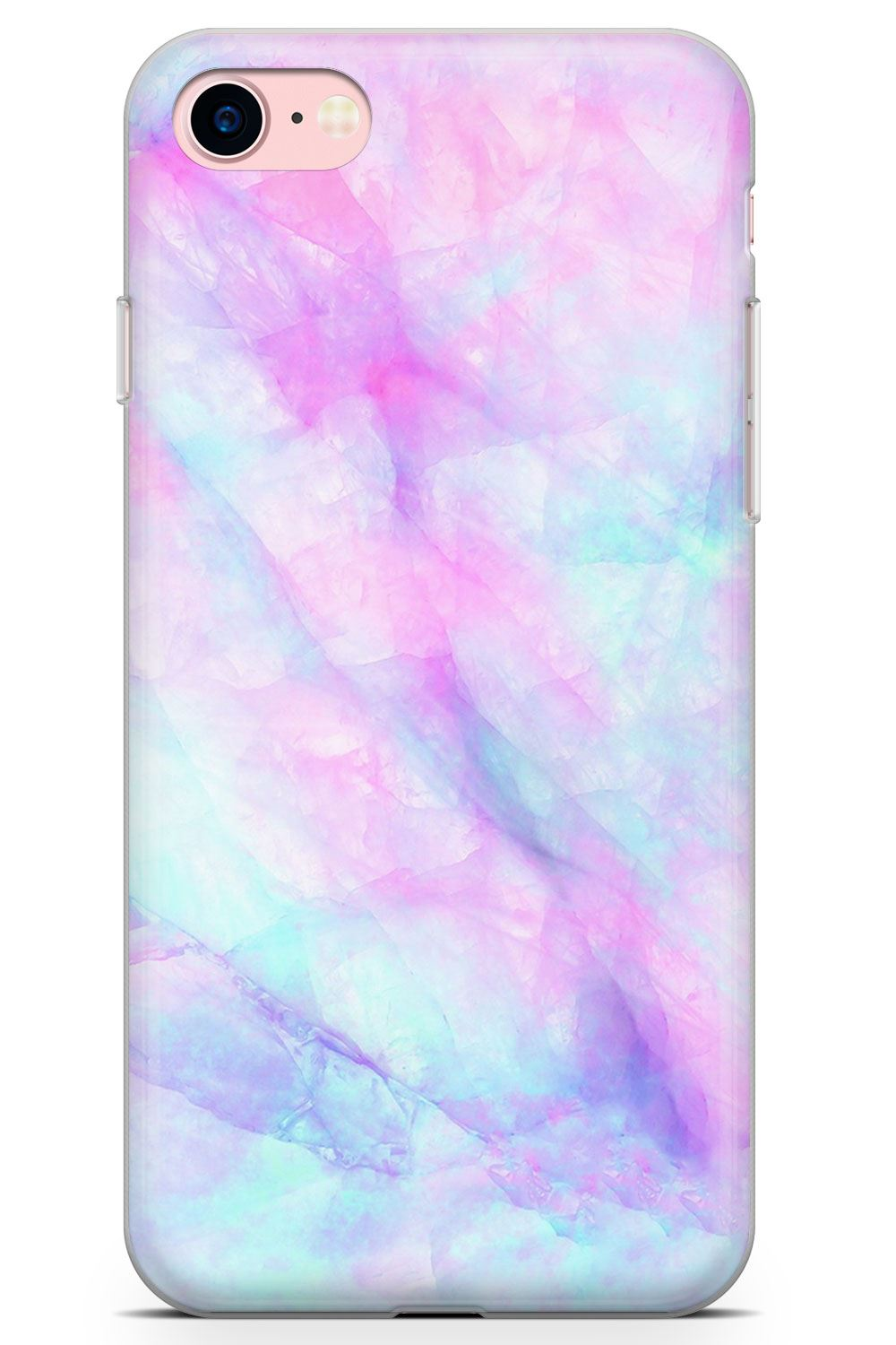 Marble-Slim-Flexible-Phone-Case-for-iPhone-Agate-Onyx-Rose-Gold-Crystal