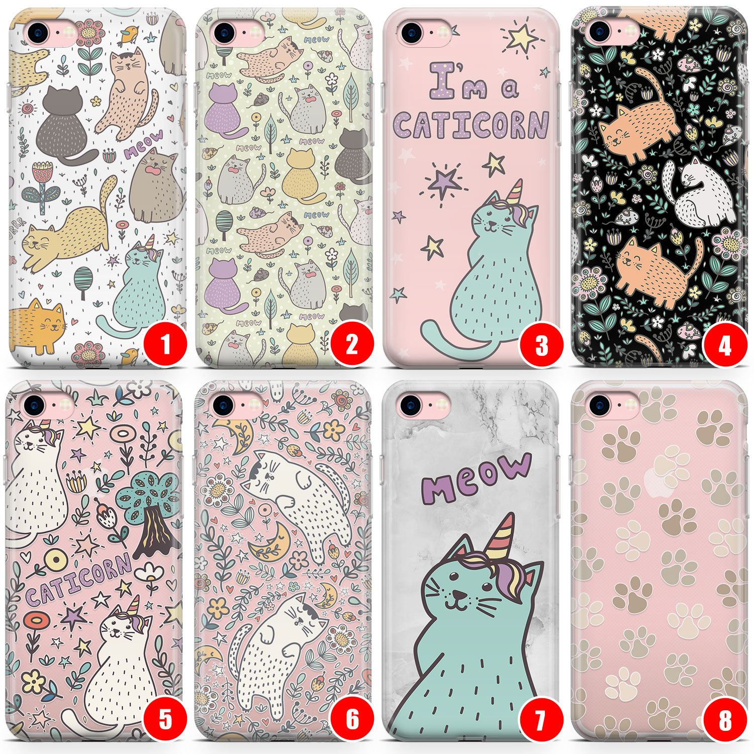 Details About Cats In Paradise Slim Phone Case For Iphone Kitten Leaf Cute Cat Lady Lazy