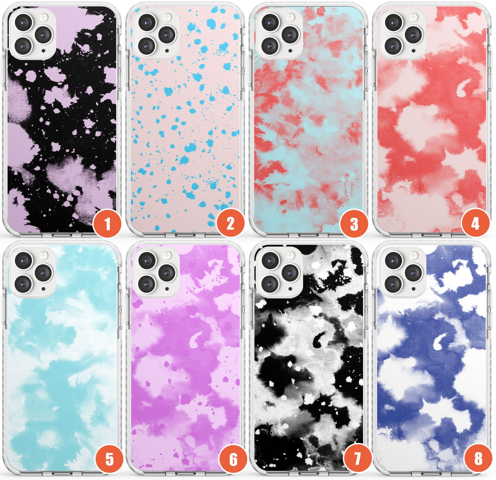 Acid Wash Tie Dye Patterns Impact Phone Case For Iphone Tie Dye Abstract Print Ebay