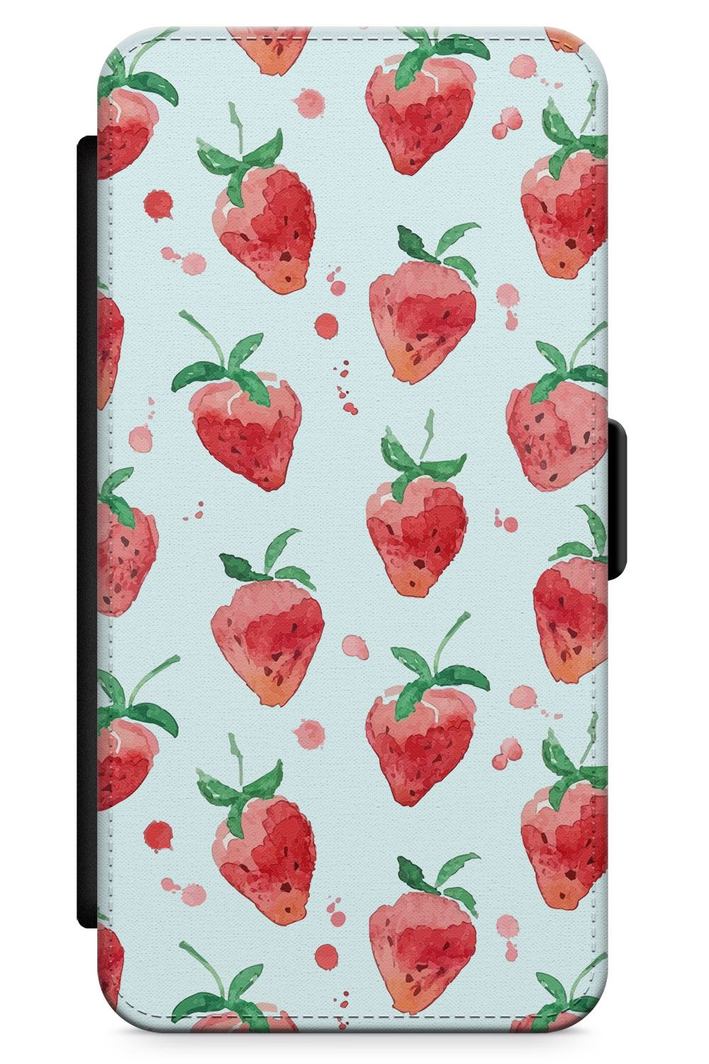 Strawberry-Watercolour-Slim-Flexible-Phone-Case-for-iPhone-Cute-Summer-Pattern