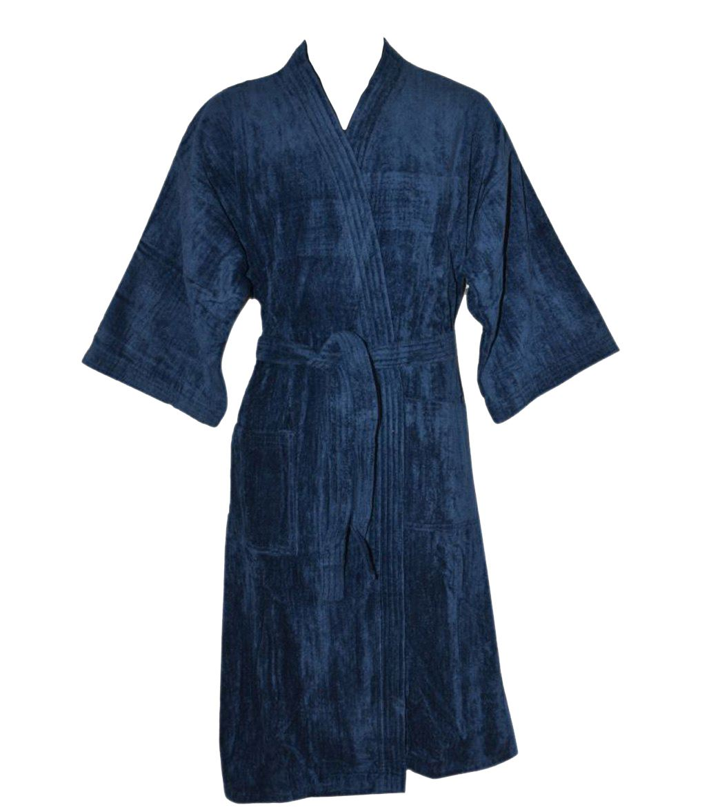 Nightware Toweling Bathrobe 100% Egyptian Cotton Dressing Gown with ...