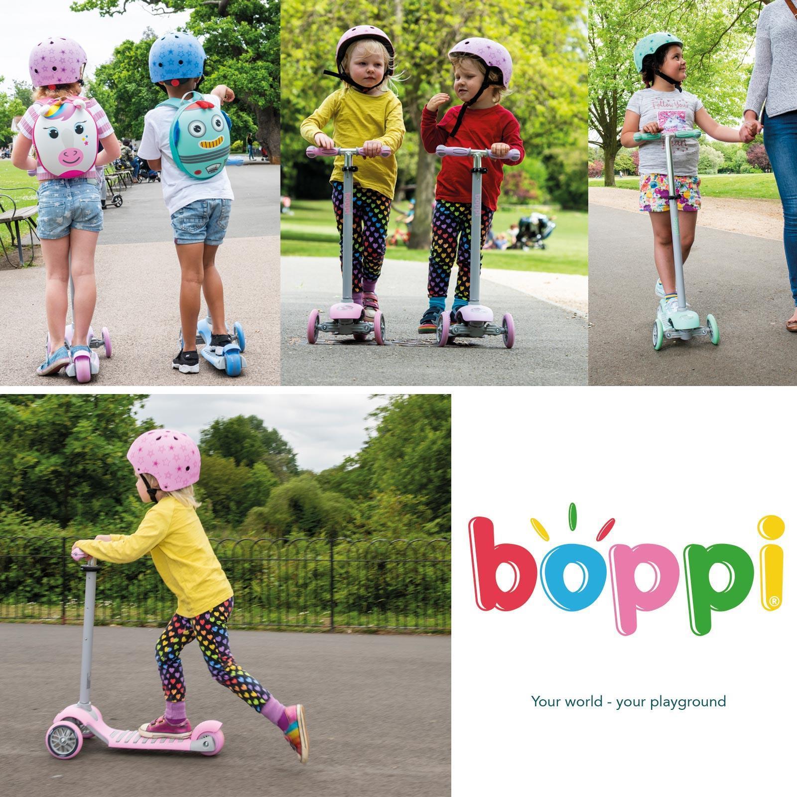 Indexbild 13 - Boppi-3-Rollen-Tretroller-Kinder-Kick-Auf-Alter-3-8-Jahre