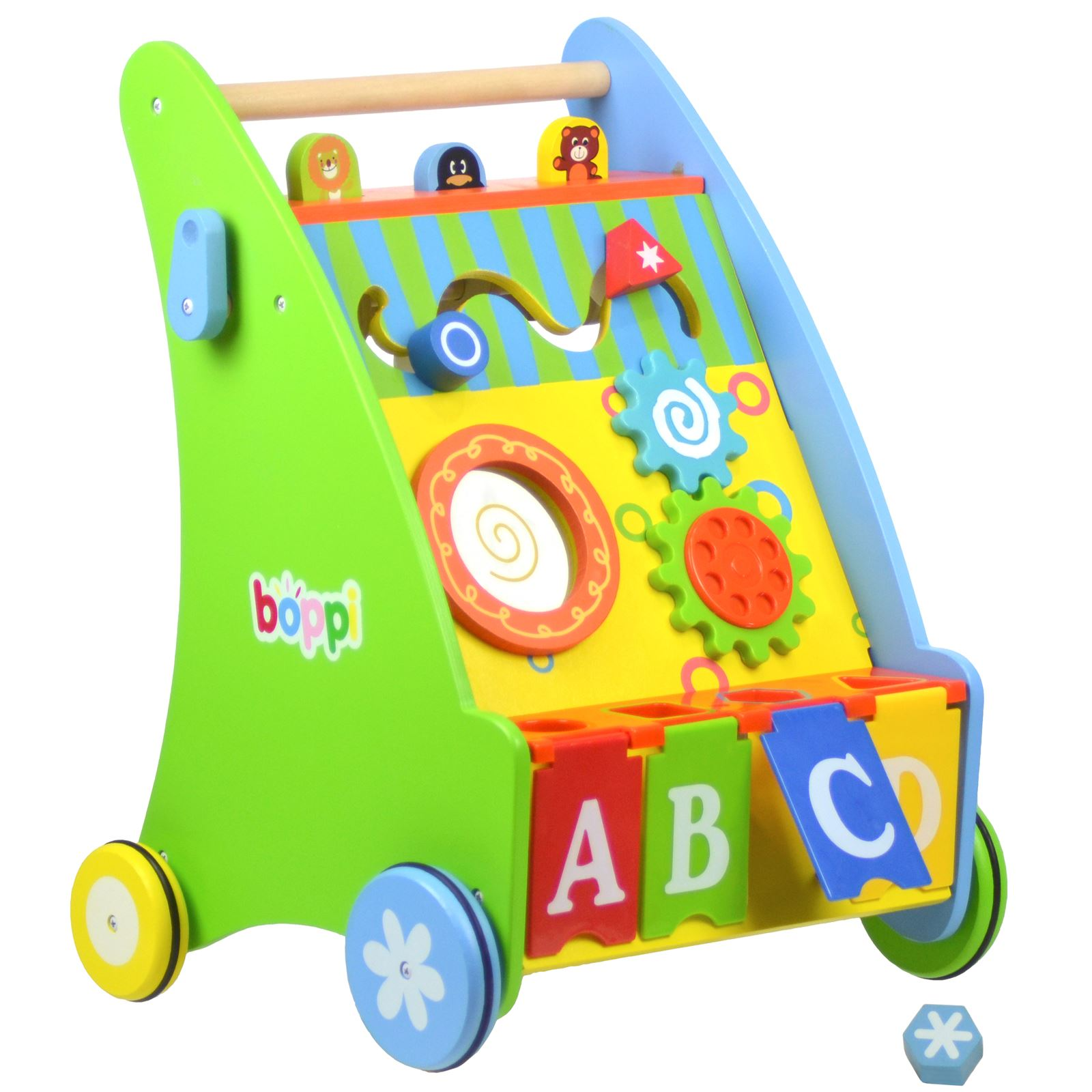 Boppi - Wooden Push Along Activity Activity Activity Walker for Babies & Toddlers - 9-18 Months e0938e