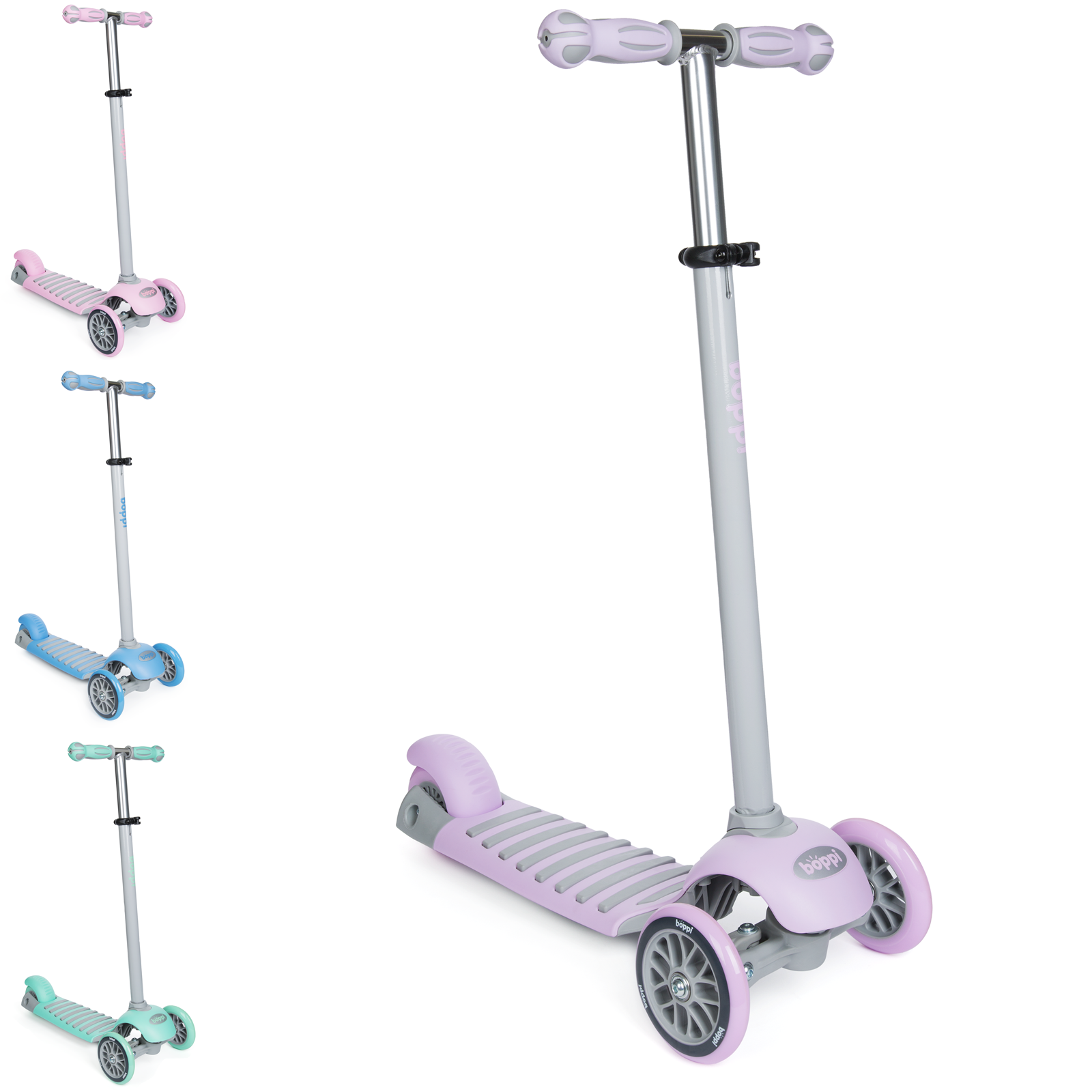 boppi 3 Wheeled Kids Toddler Push Scooter Aged 3-8 Years Old for Girls and Boys