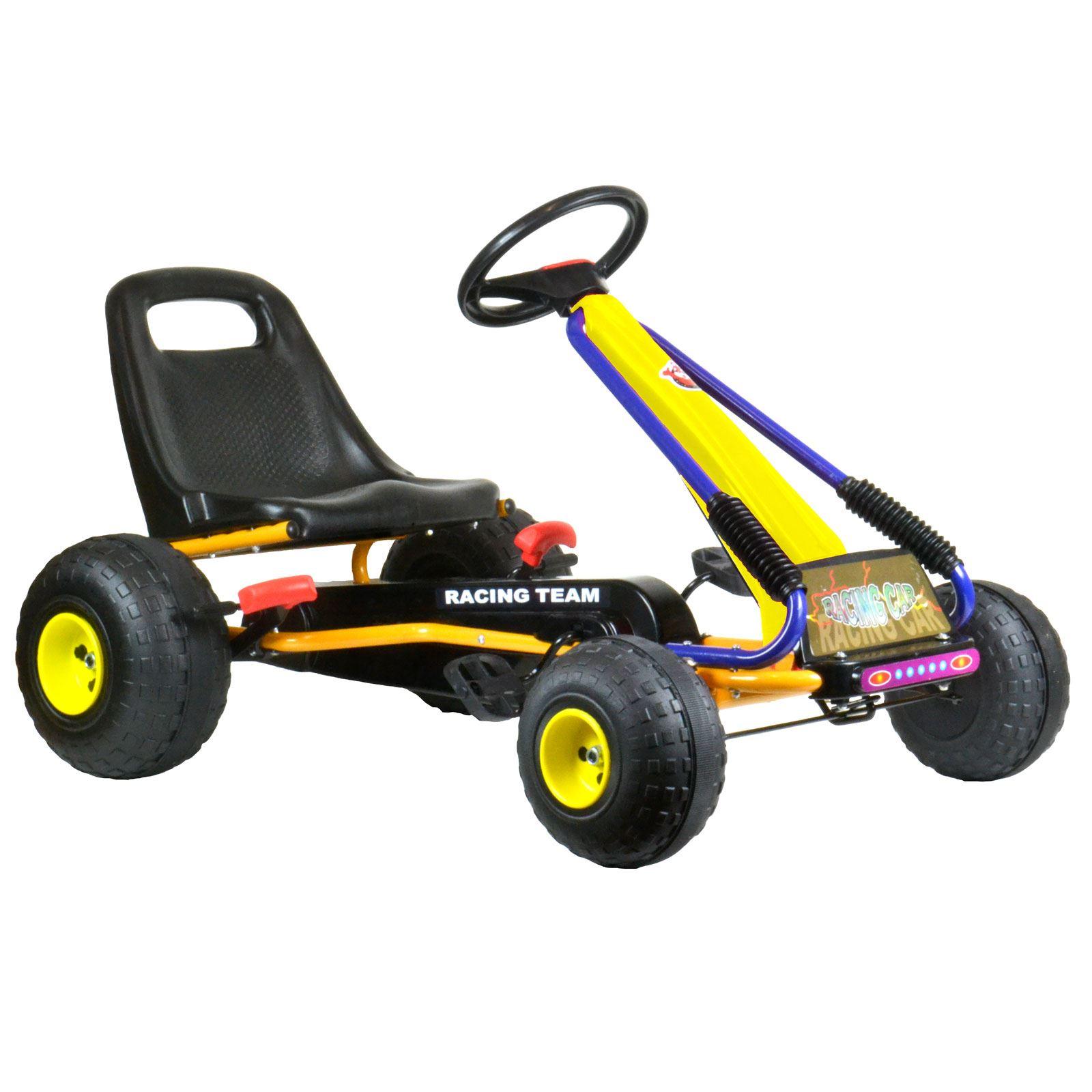 kinder pedal go kart wagen mit oversize rad handbremse. Black Bedroom Furniture Sets. Home Design Ideas