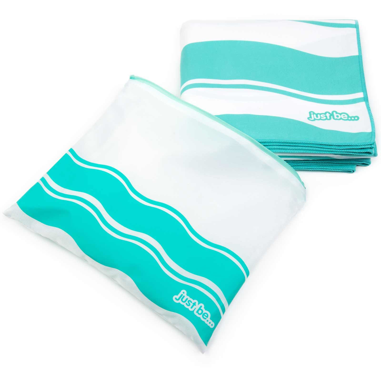 thumbnail 23 - Compact Large Quick Dry Microfibre Beach Towel with Travel Bag Camping Yoga Swim