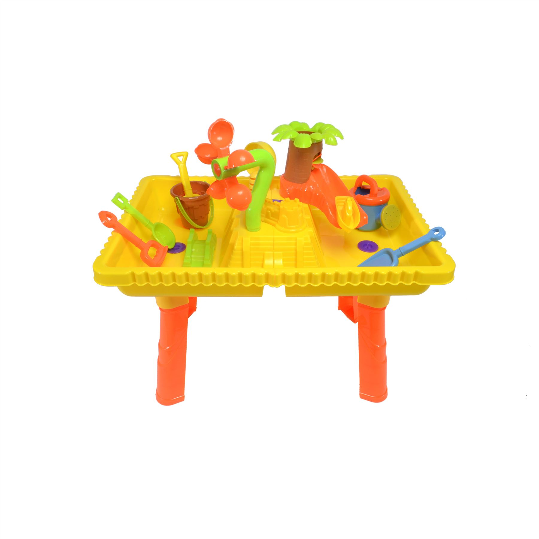 Castle Sand and Water Table set with 2 seats and 10 pieces 9809 6