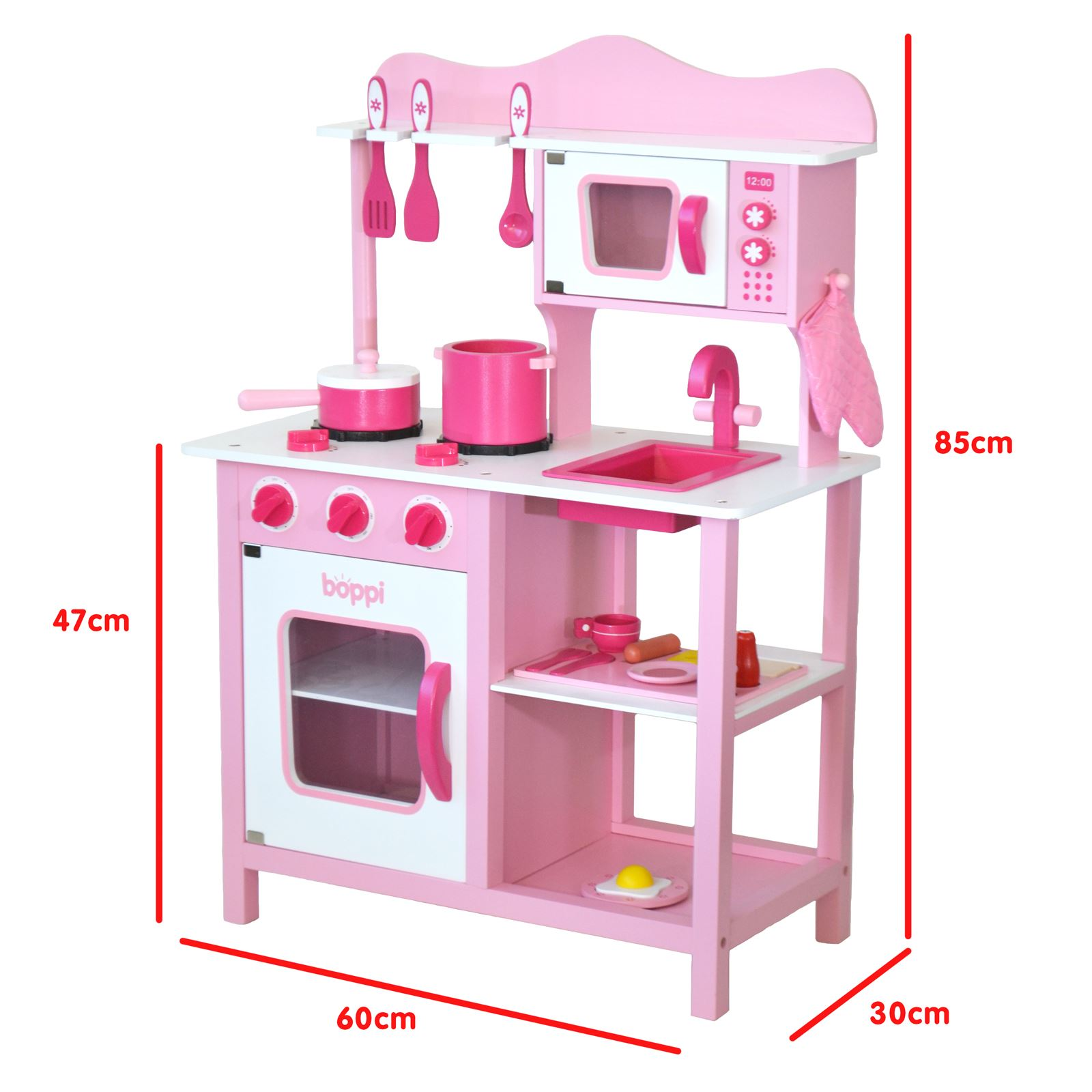 wooden toy kitchen accessories childrens pink wooden kitchen with 20 1651